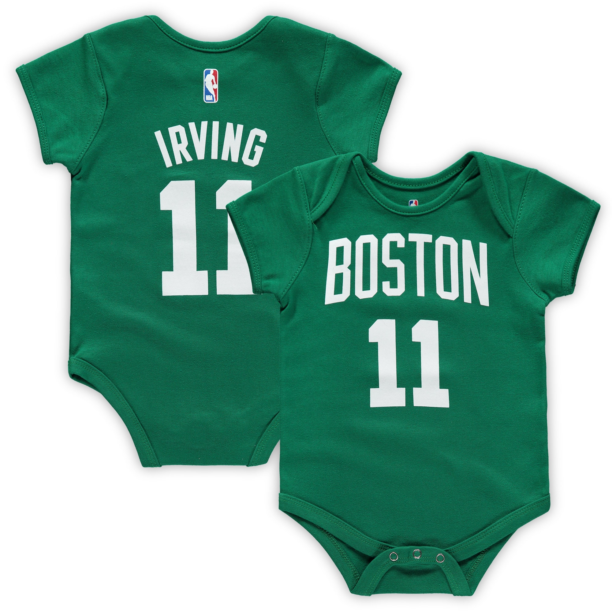 Kyrie Irving Boston Celtics Infant Name & Number Bodysuit - Kelly Green