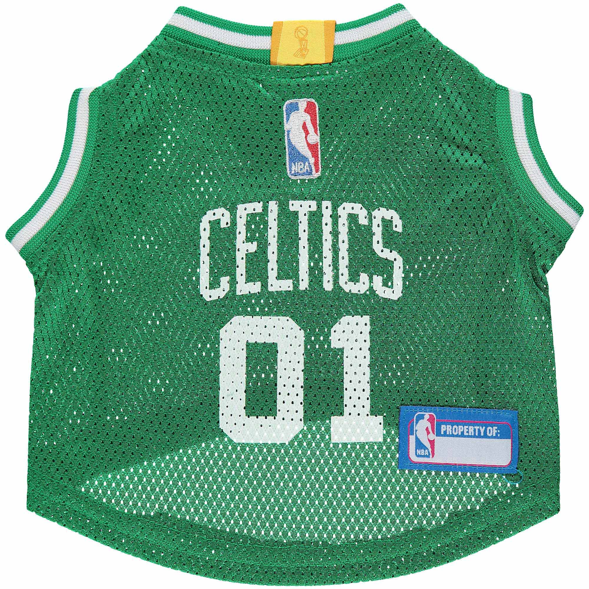 Boston Celtics Mesh Basketball Dog Jersey