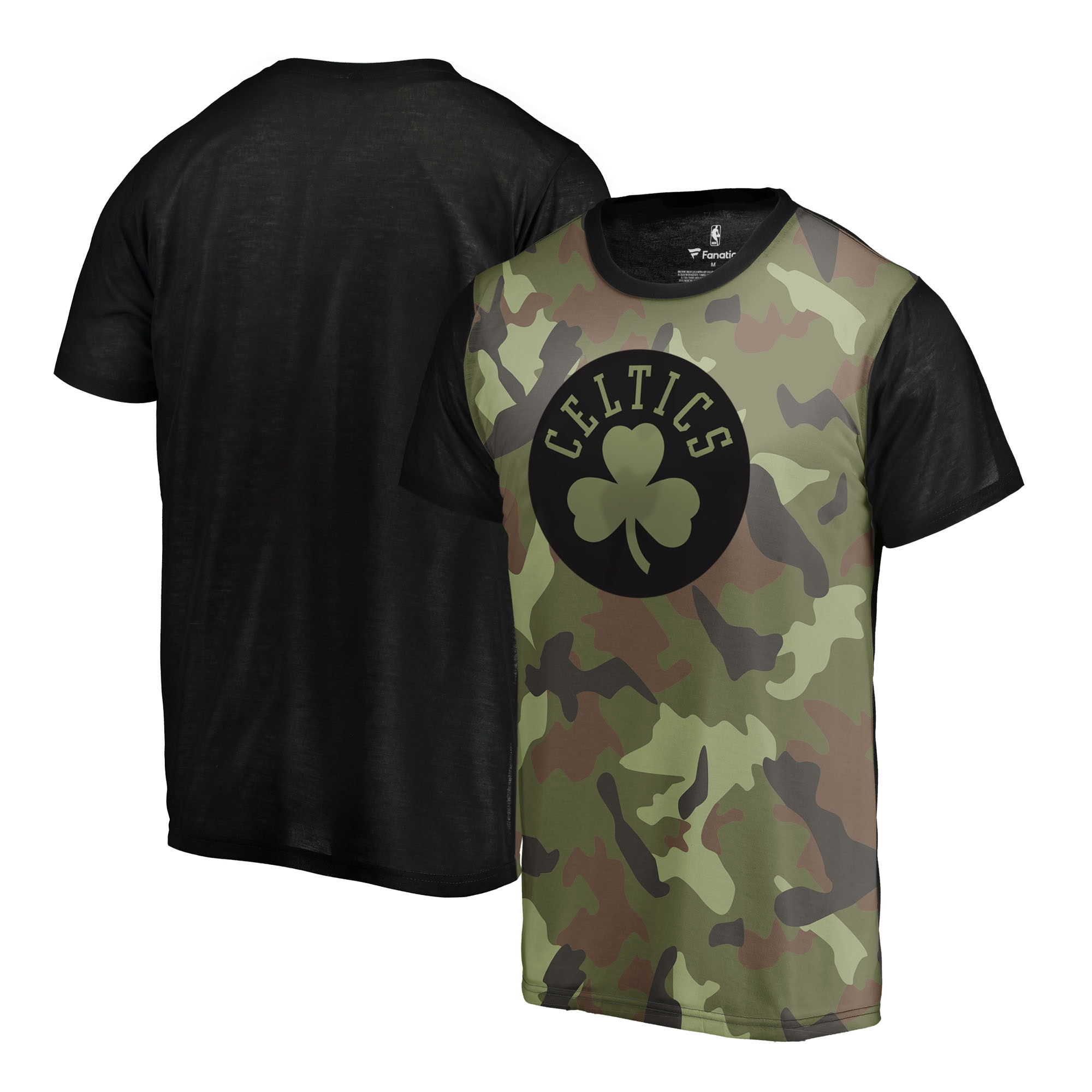 Boston Celtics Fanatics Branded Camo Collection Blast Sublimated T-Shirt - Camo