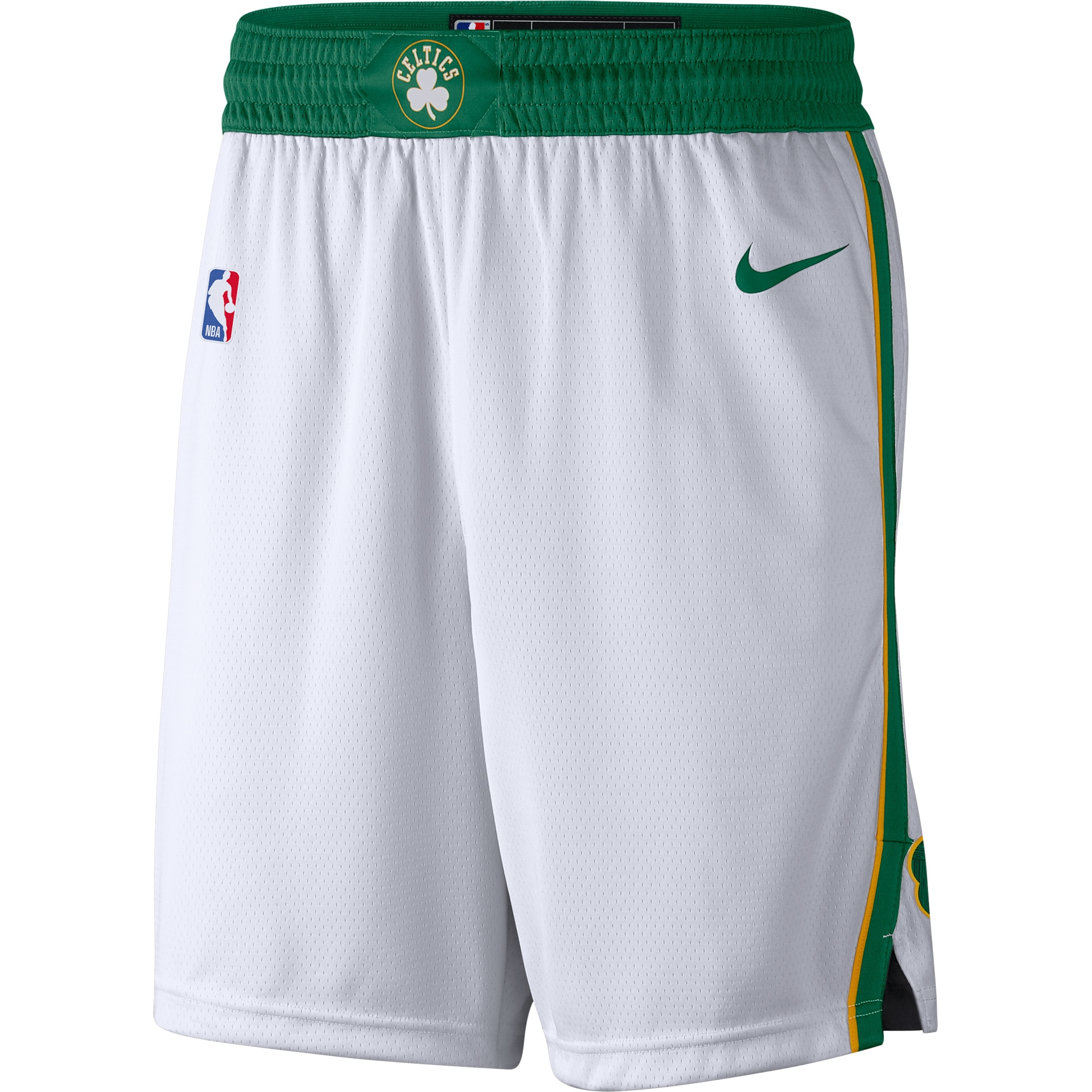 Boston Celtics Nike City Edition Swingman Performance Shorts - White