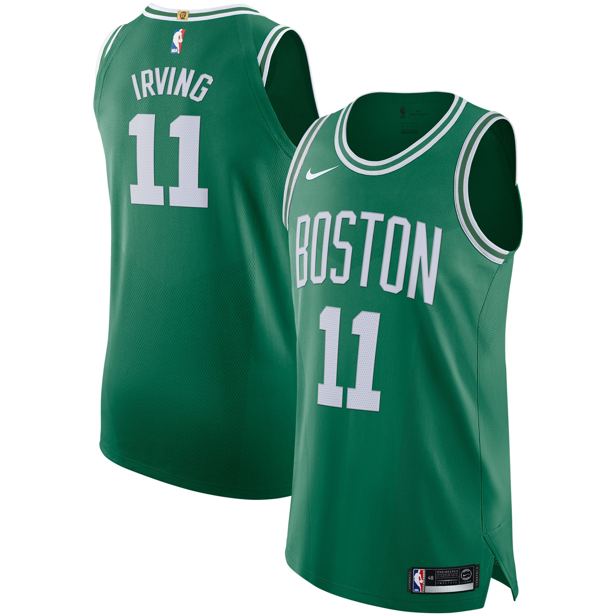 Kyrie Irving Boston Celtics Nike Authentic Player Jersey Kelly Green - Icon Edition