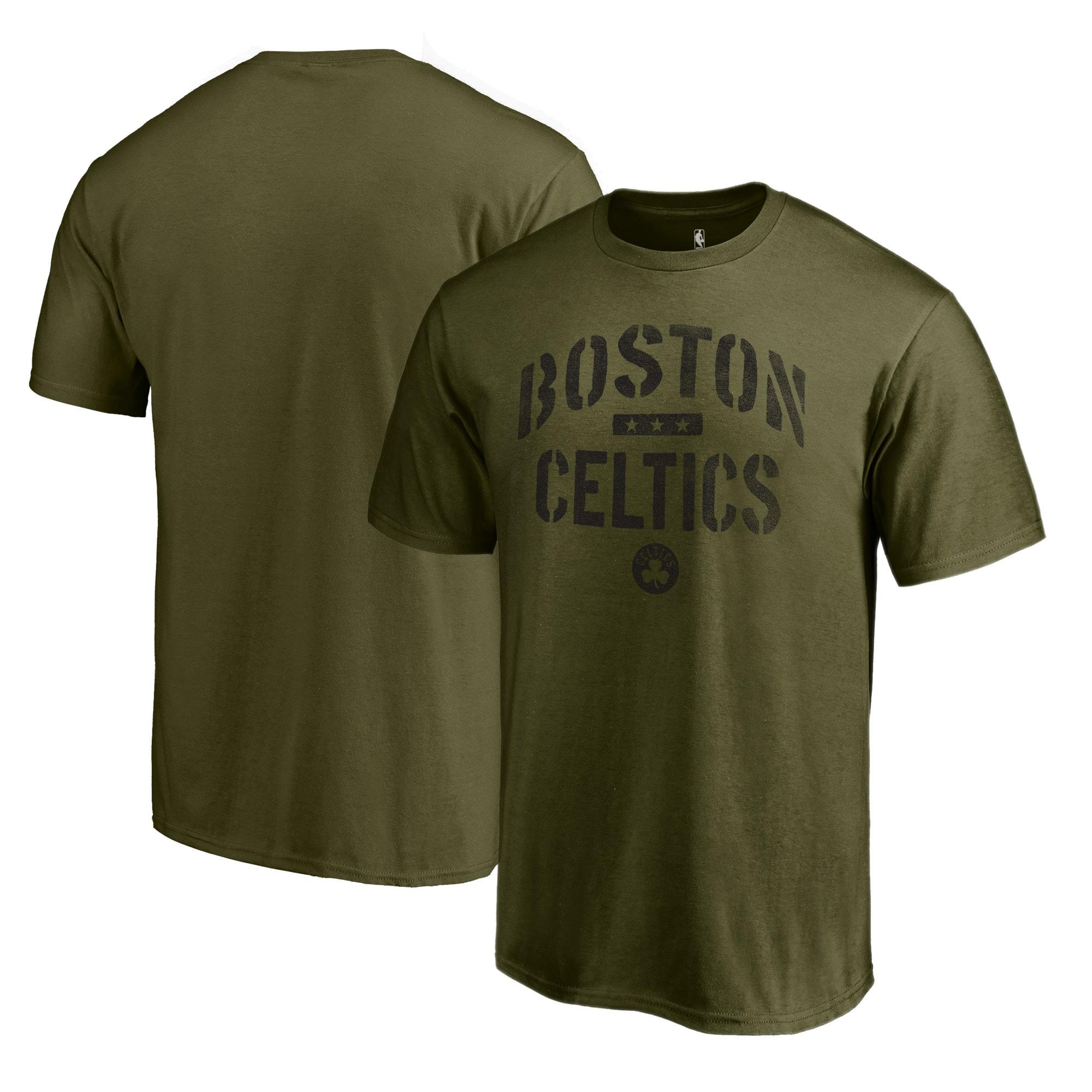 Boston Celtics Fanatics Branded Camo Collection Jungle T-Shirt - Green