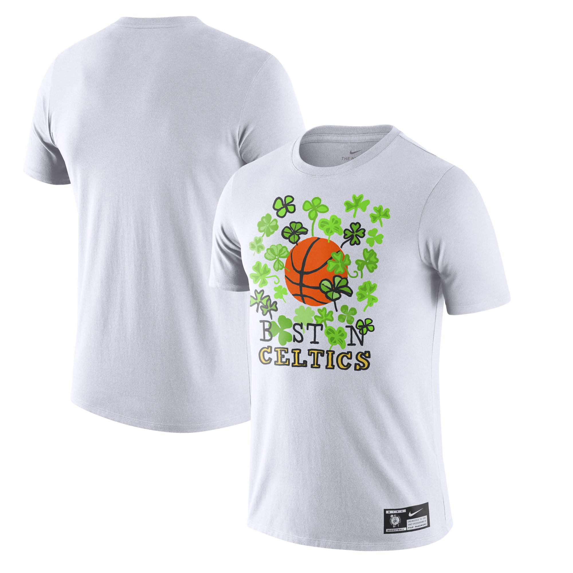 Boston Celtics Nike Pagowski Collab T-Shirt - White
