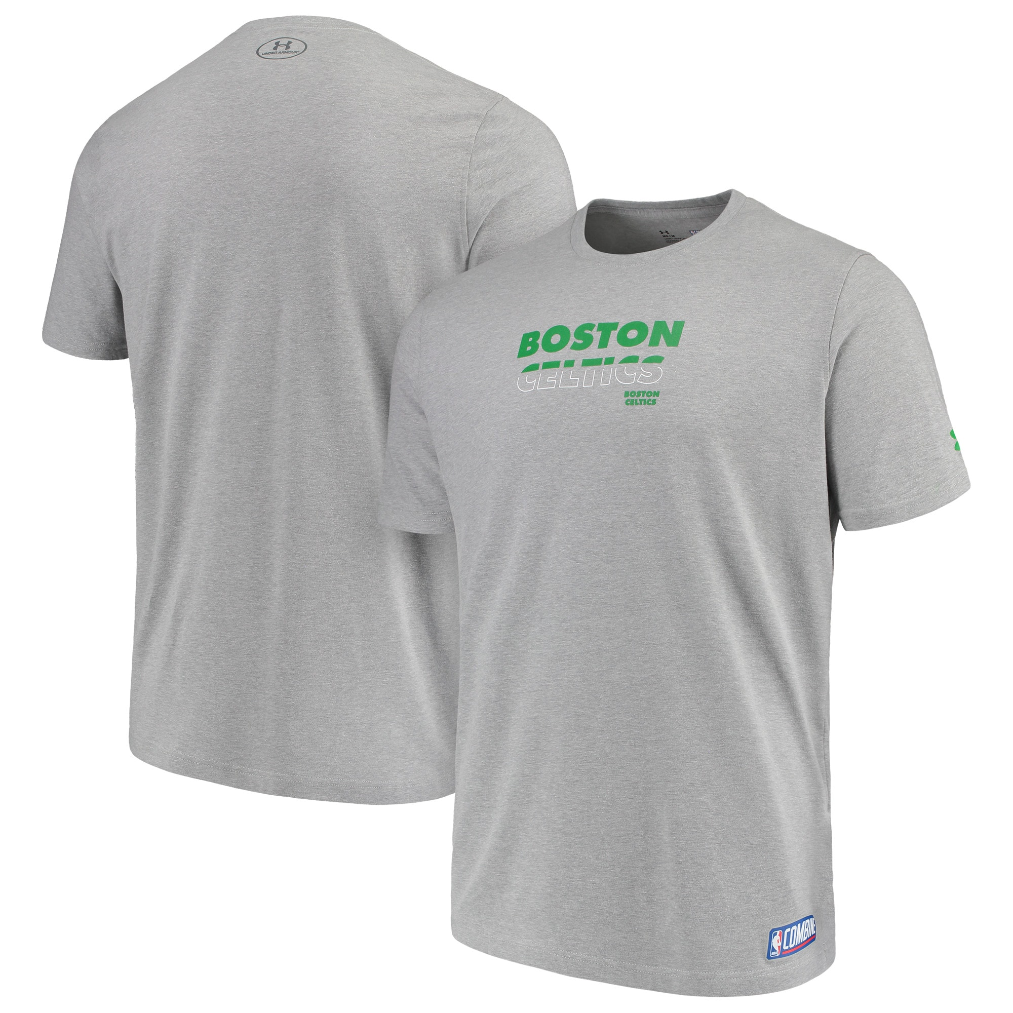 Boston Celtics Under Armour Combine Authentic Start Your Story Performance Tri-Blend T-Shirt - Heathered Charcoal