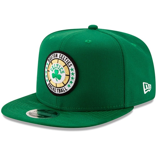 Boston Celtics New Era 2018 Tip-Off Series High Crown 9FIFTY Adjustable Hat - Kelly Green