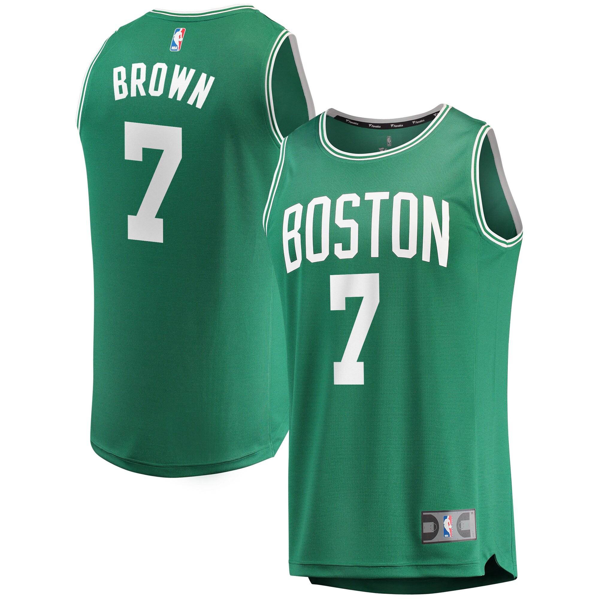 Jaylen Brown Boston Celtics Fanatics Branded Fast Break Replica Player Jersey - Green