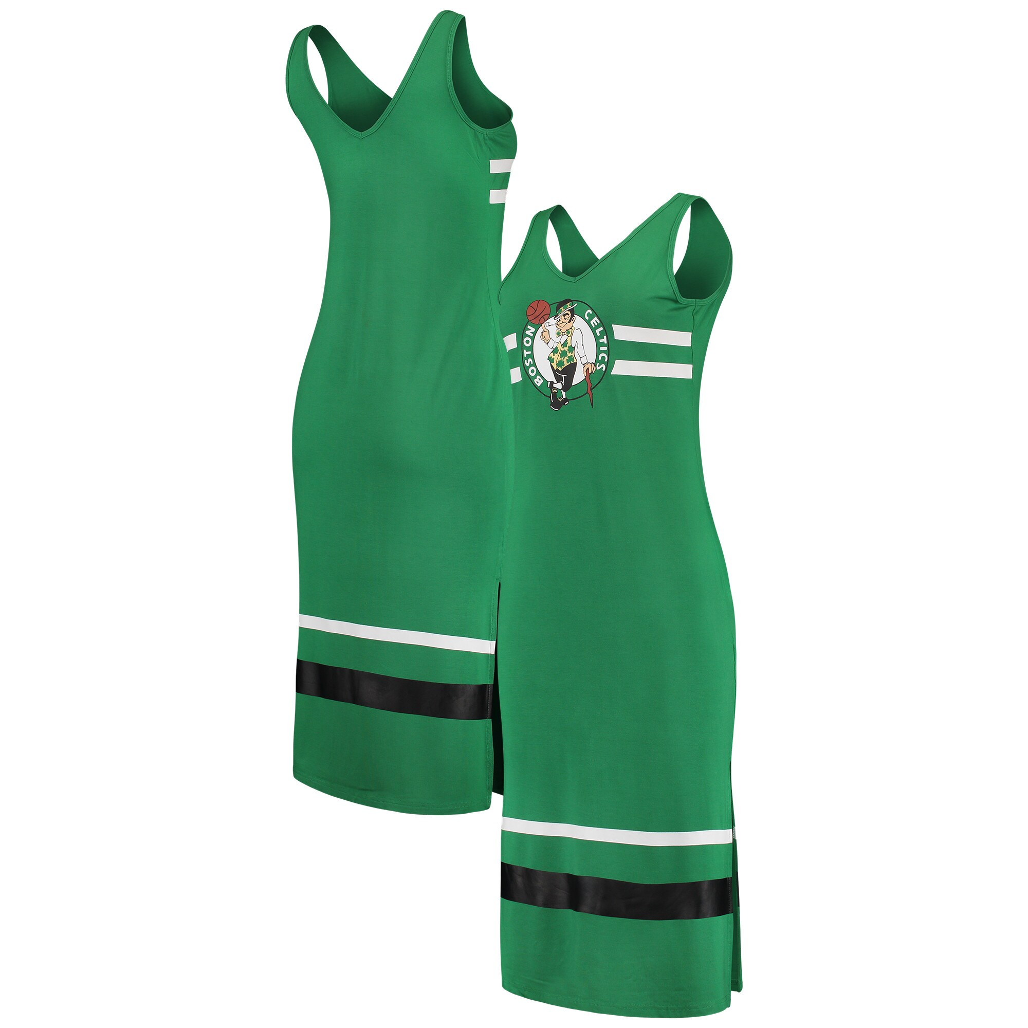 Boston Celtics G-III 4Her by Carl Banks Women's Maxi Dress - Kelly Green/Black