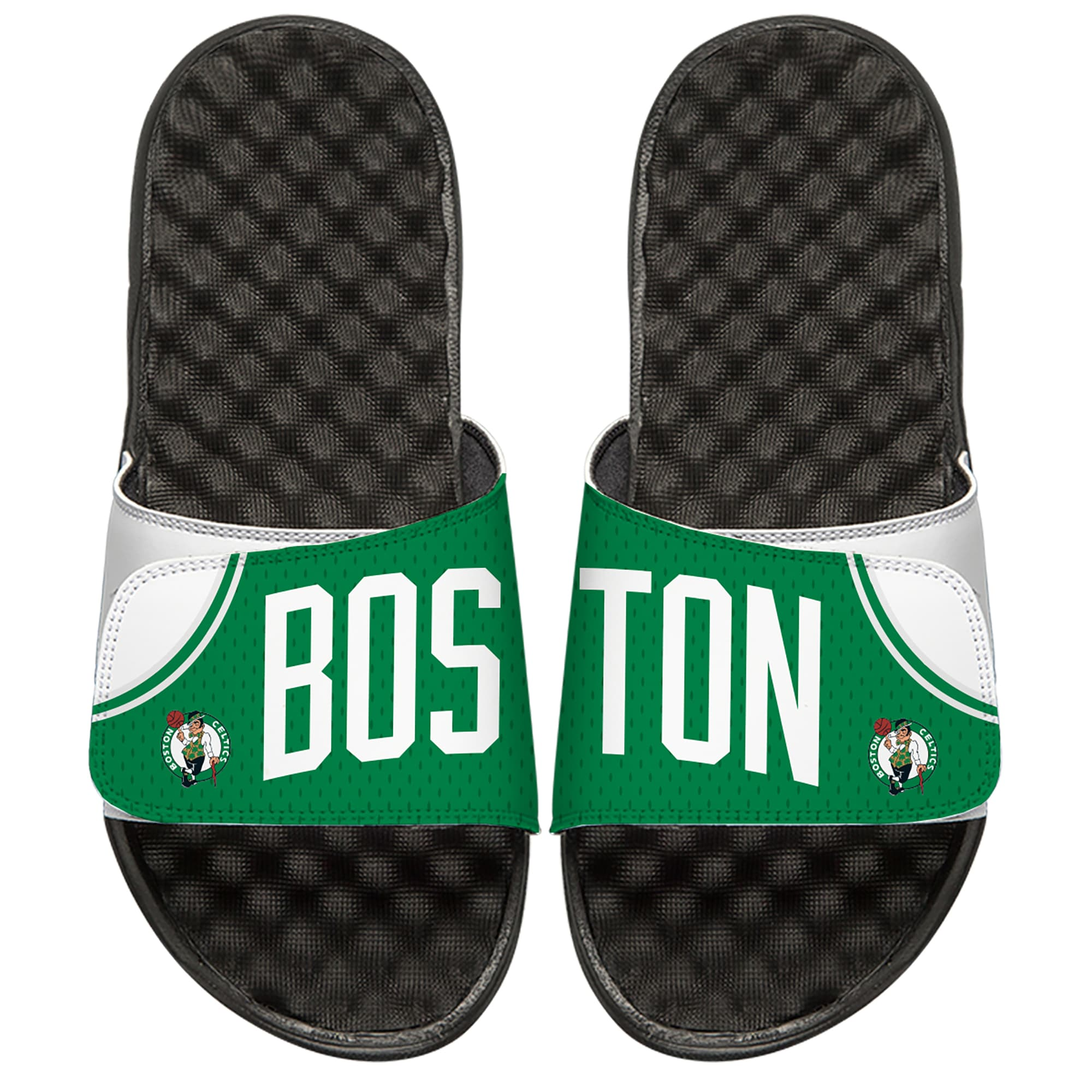 Boston Celtics ISlide Away Jersey Split Slide Sandals - White