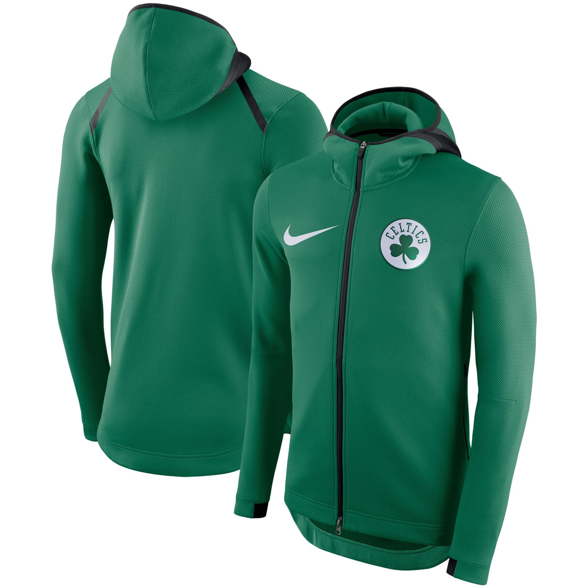 Boston Celtics Nike Showtime Therma Flex Performance Full-Zip Hoodie - Kelly Green