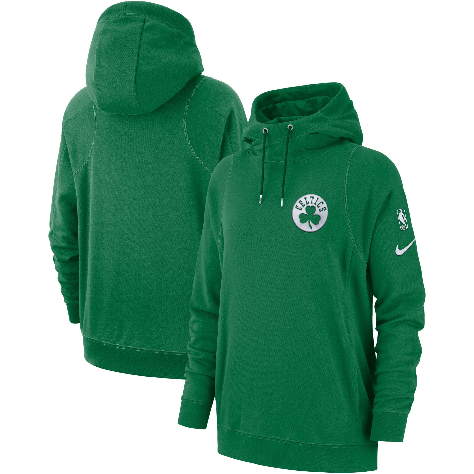 Boston Celtics Nike Women's Courtside French Terry Pullover Hoodie - Kelly Green