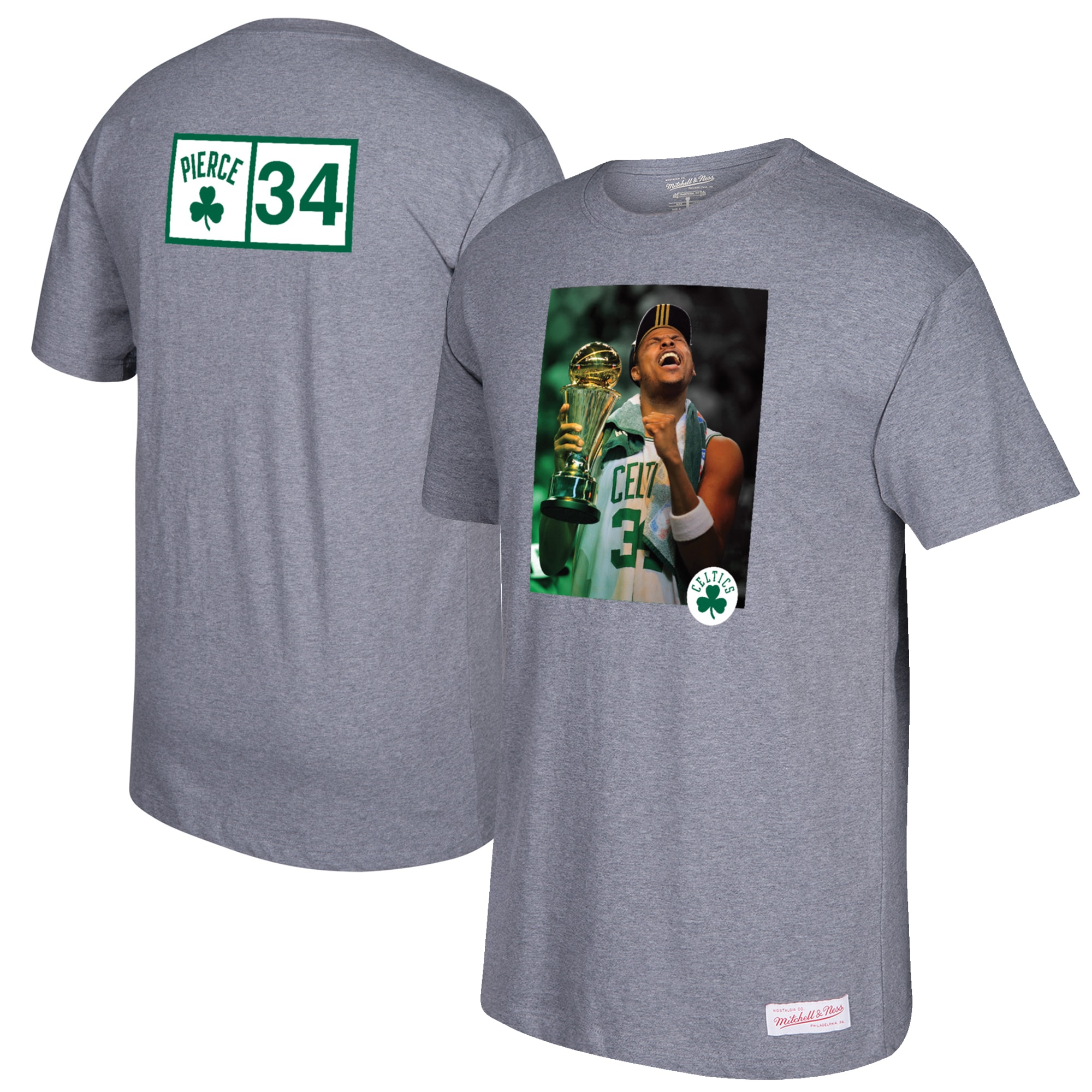 Paul Pierce Boston Celtics Mitchell & Ness Graphic T-Shirt - Gray