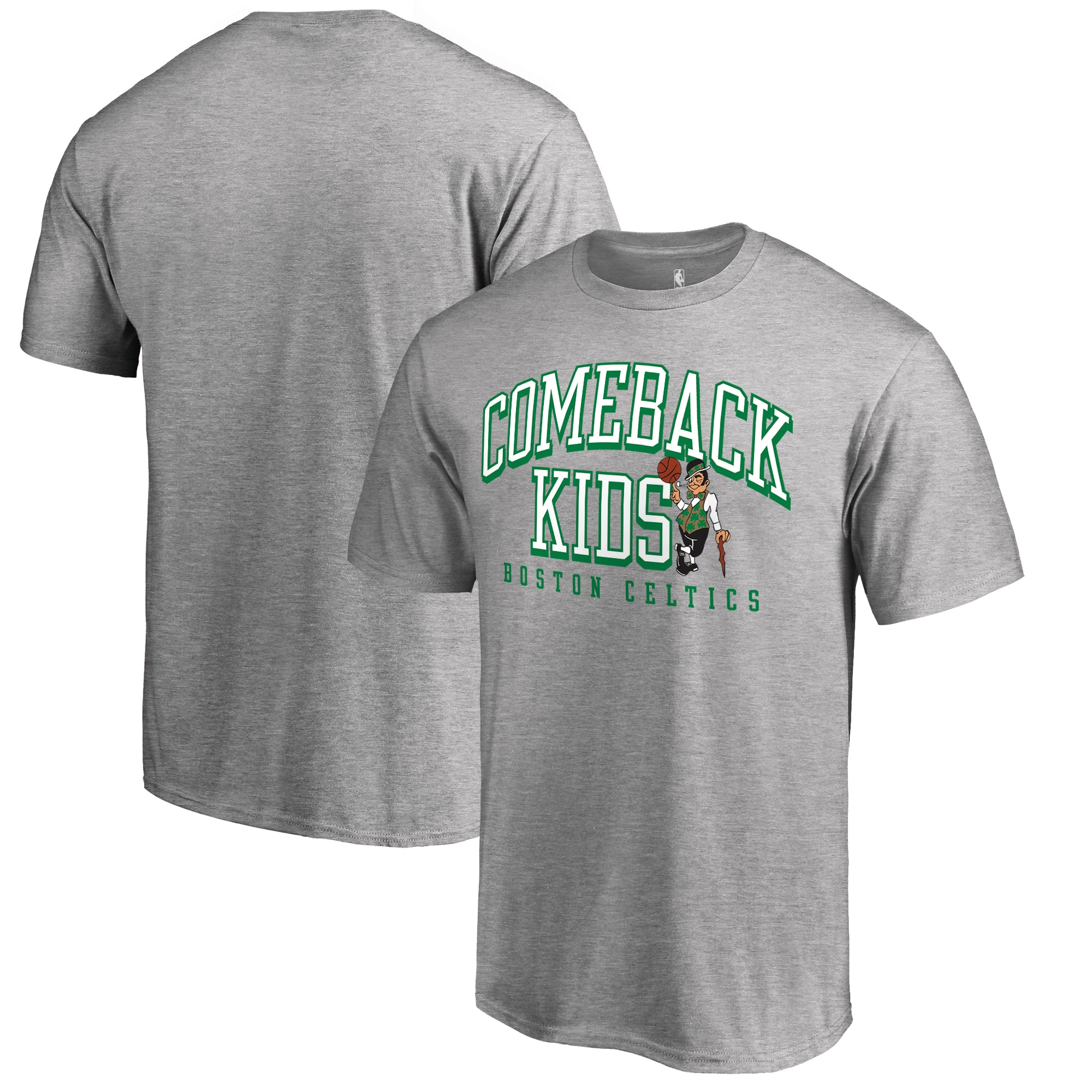 Boston Celtics Fanatics Branded Comeback Kids T-Shirt - Heathered Gray