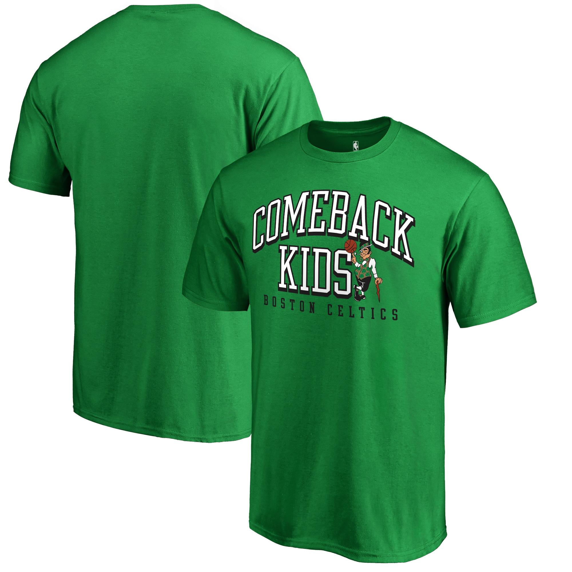Boston Celtics Fanatics Branded Comeback Kids T-Shirt - Kelly Green