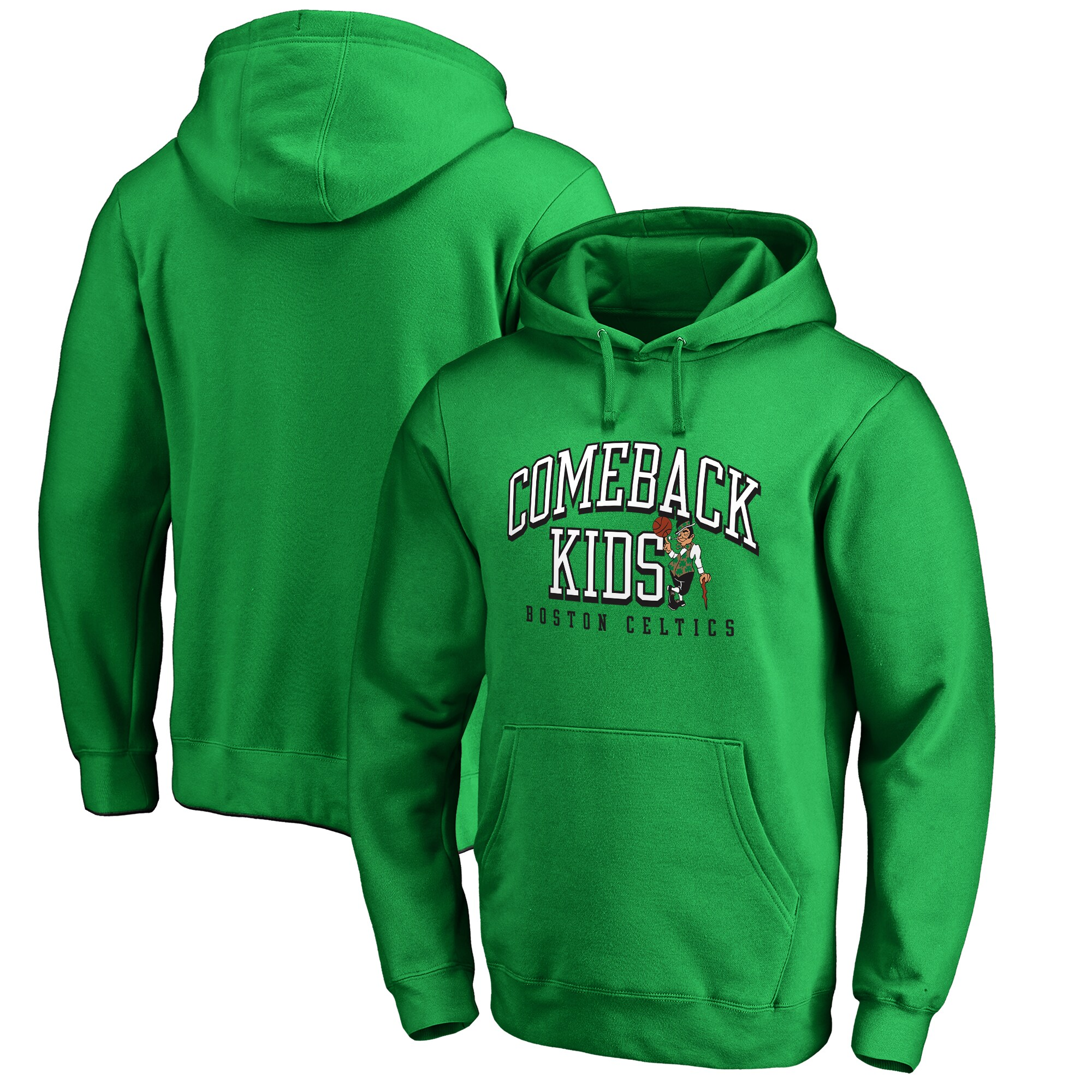 Boston Celtics Fanatics Branded Comeback Kids Pullover Hoodie - Kelly Green