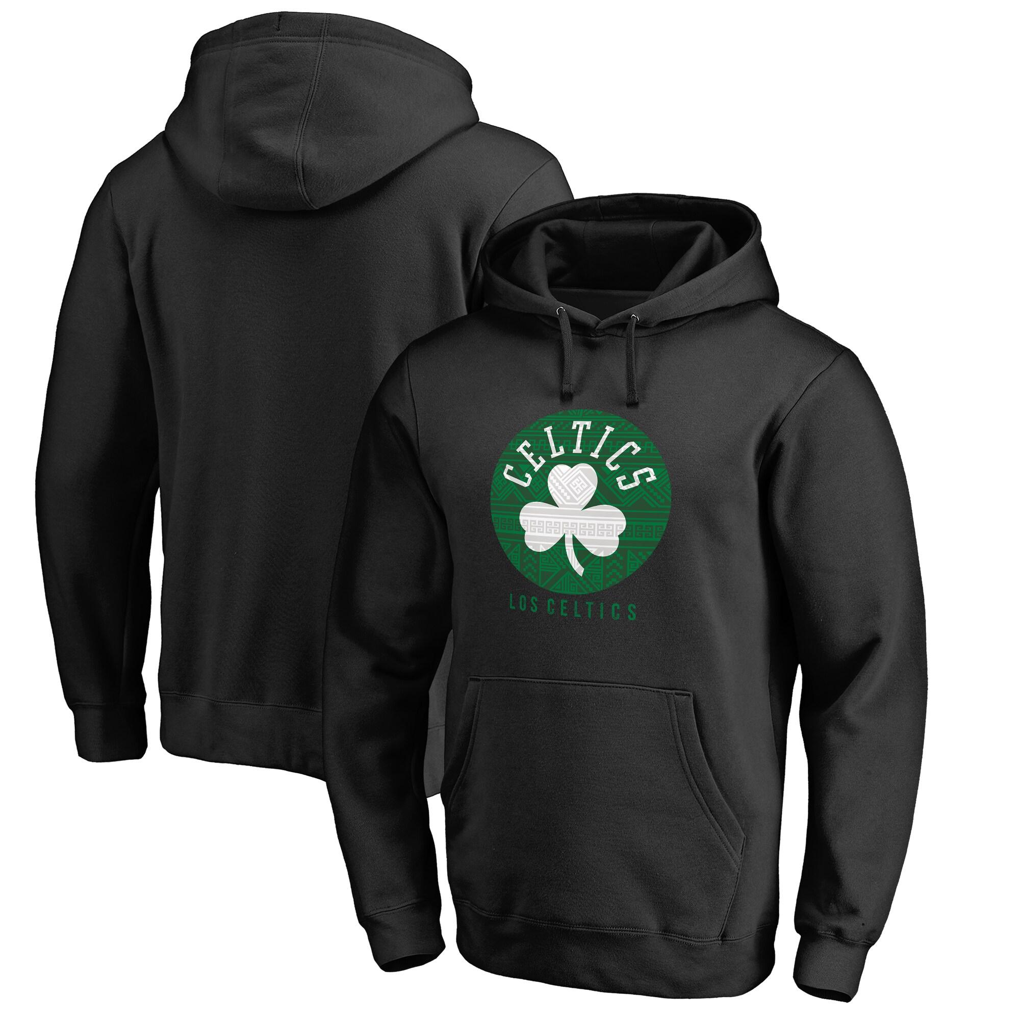 Boston Celtics Fanatics Branded 2017 Noches Éne-Bé-A Pullover Hoodie - Black