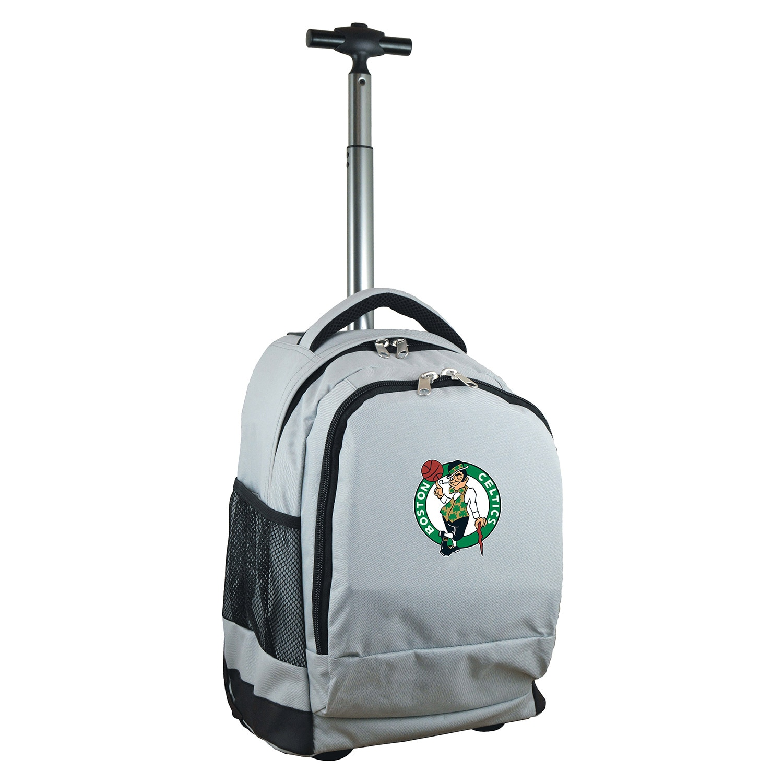 Boston Celtics 19'' Premium Wheeled Backpack - Gray