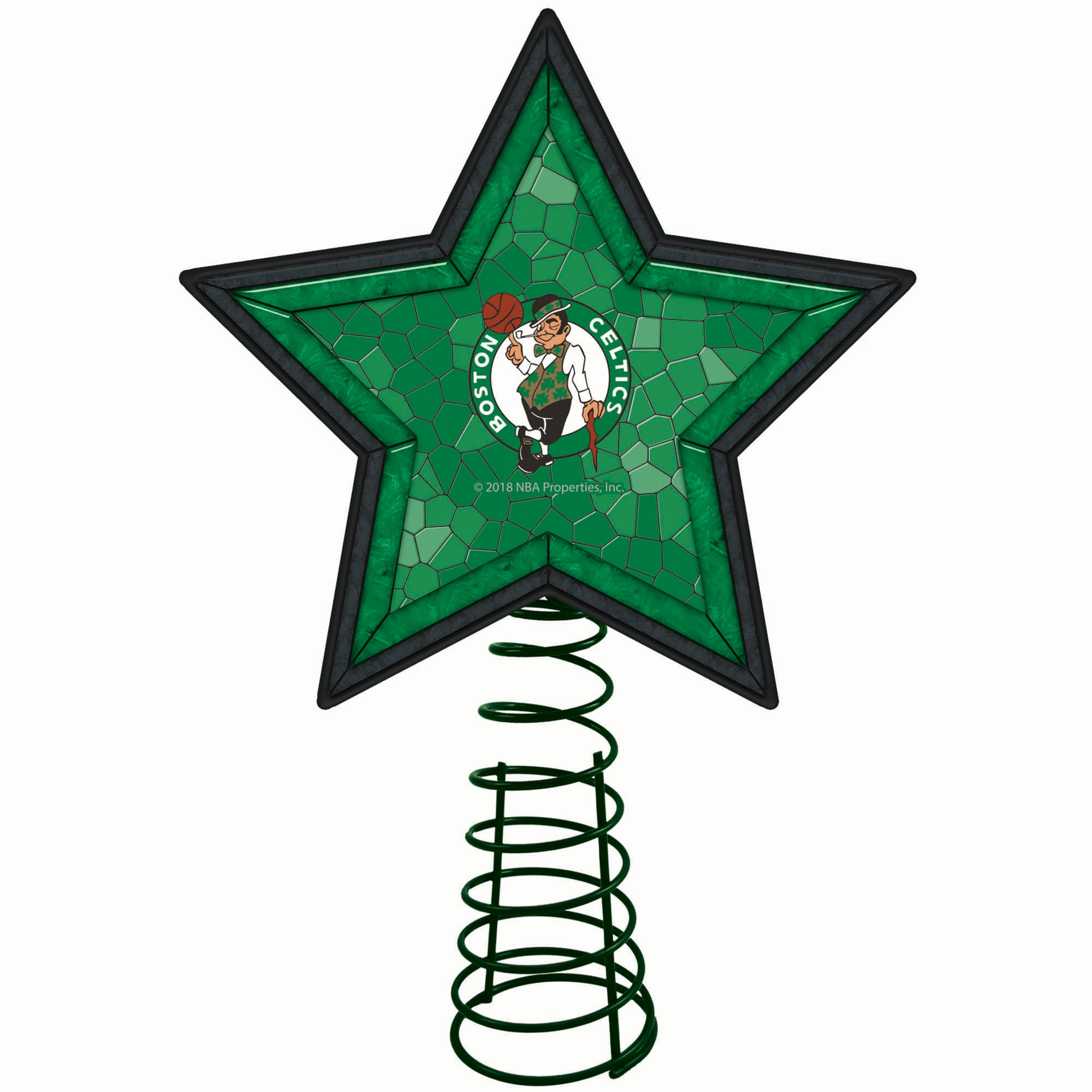 Boston Celtics Mosaic Tree Topper