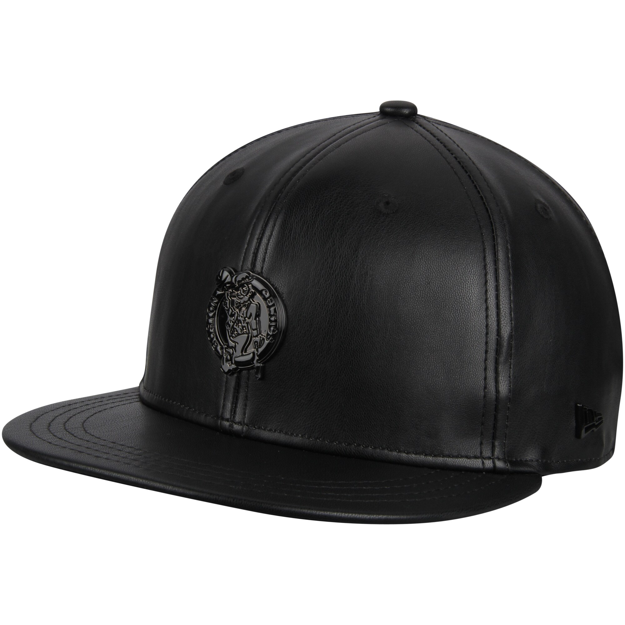 Boston Celtics New Era Black Label Series Glossy Metal 9FIFTY Snapback Adjustable Hat - Black