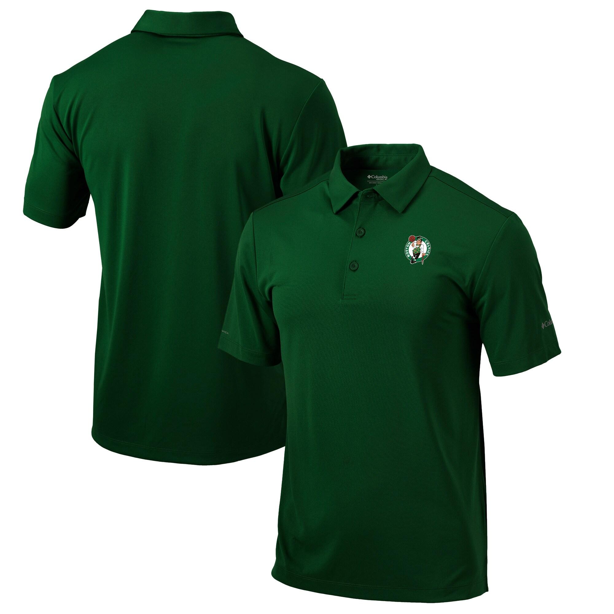 Boston Celtics Columbia Omni-Wick Drive Polo - Kelly Green