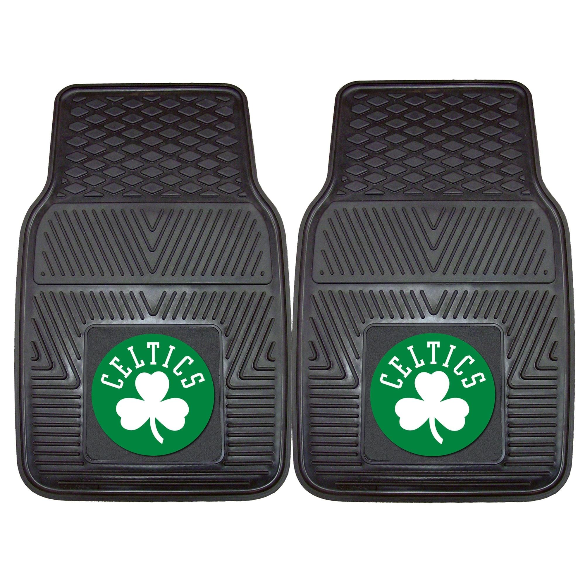 """Boston Celtics 27"""" x 18"""" 2-Pack Vinyl Car Mat Set"""