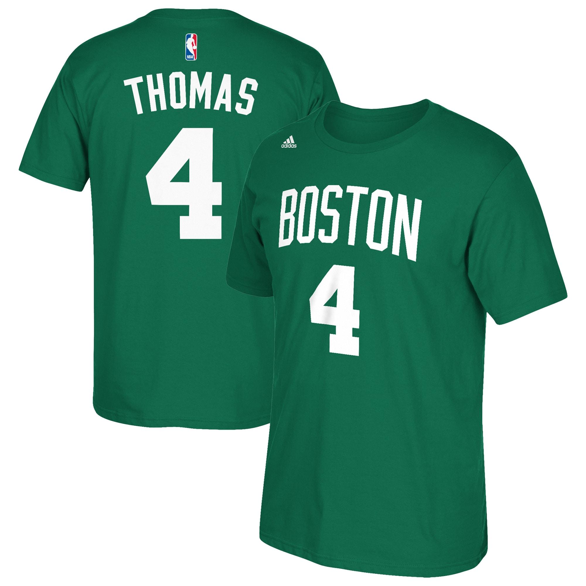 Isaiah Thomas Boston Celtics adidas Net Number T-Shirt - Kelly Green