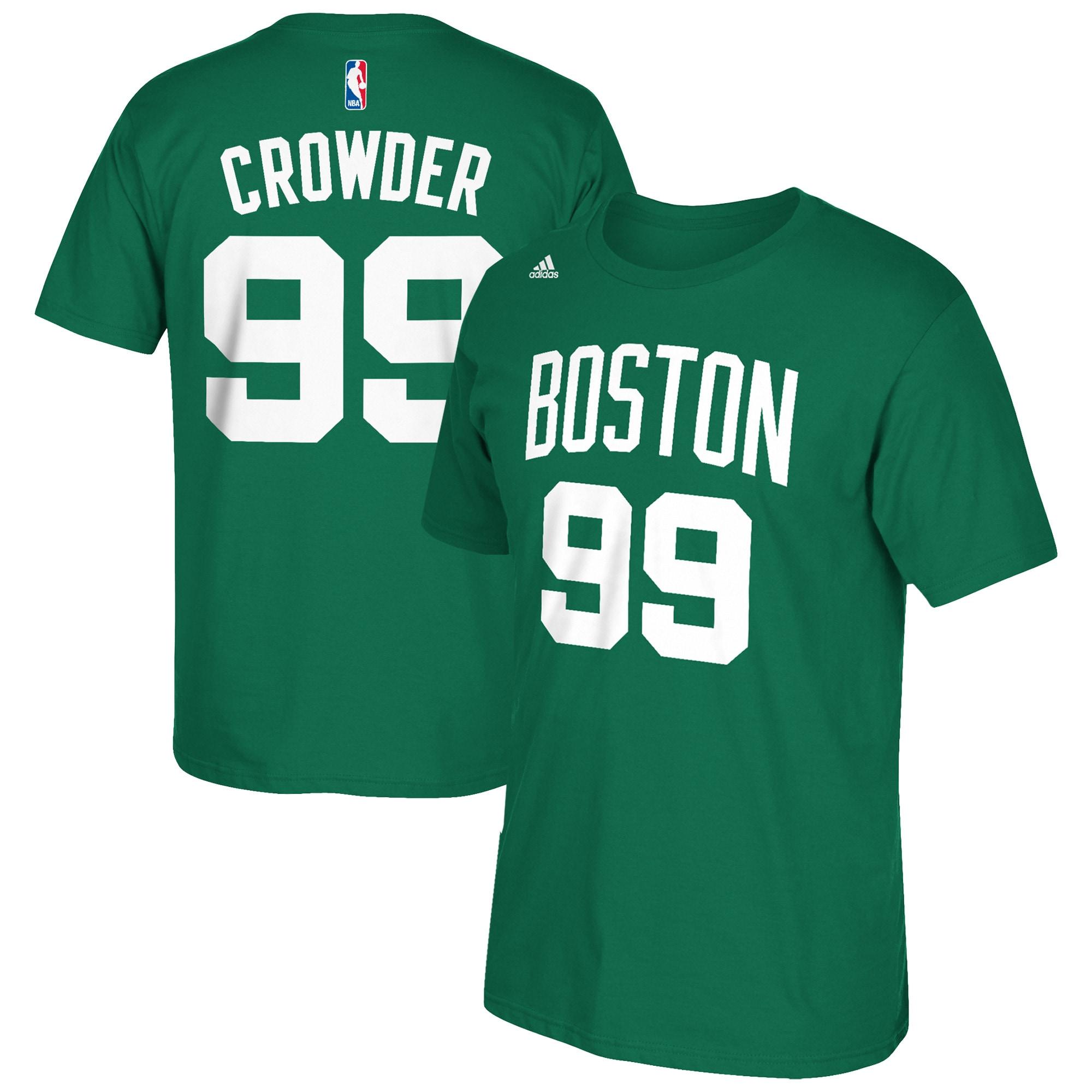 Jae Crowder Boston Celtics adidas Net Number T-Shirt - Kelly Green