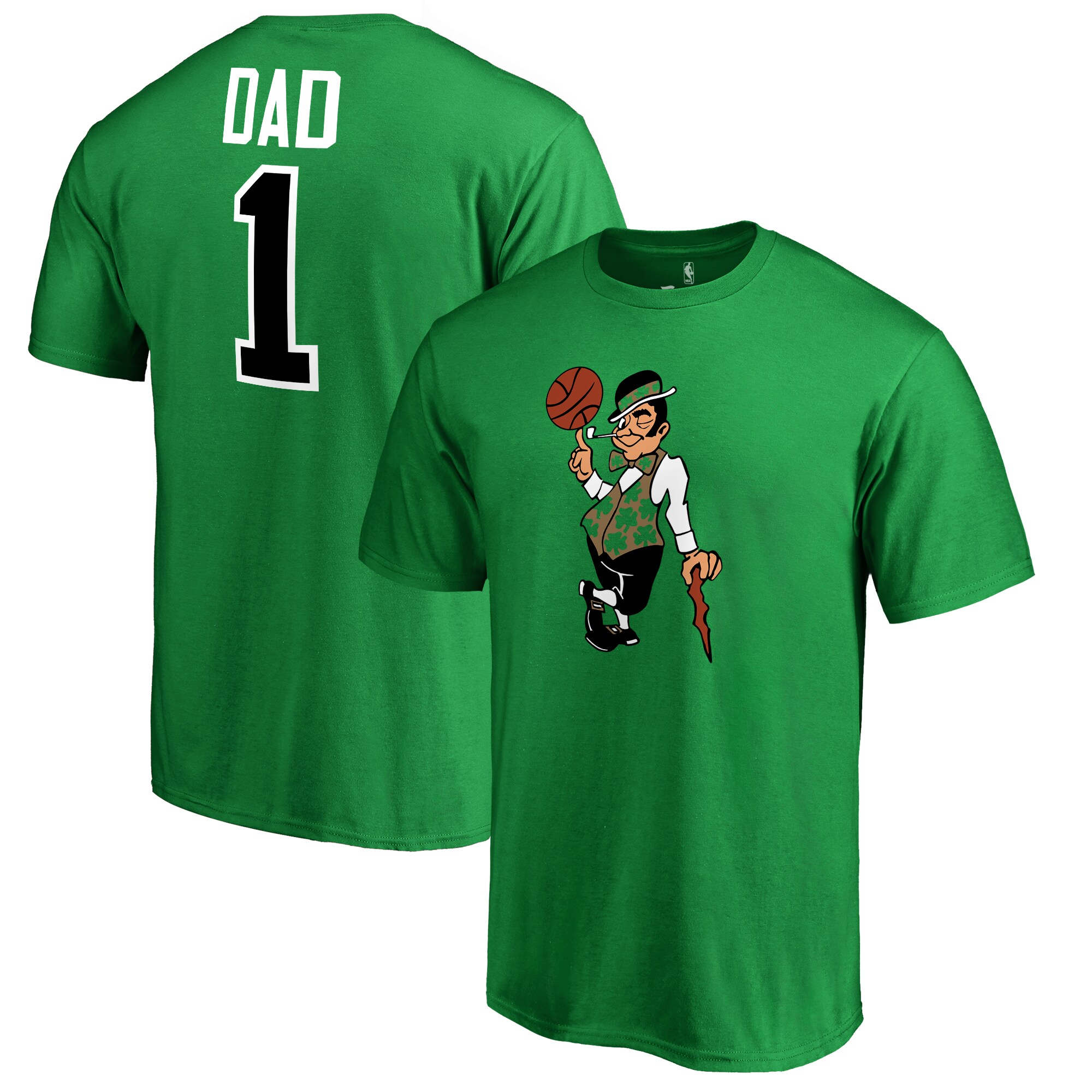 Boston Celtics #1 Dad T-Shirt - Kelly Green