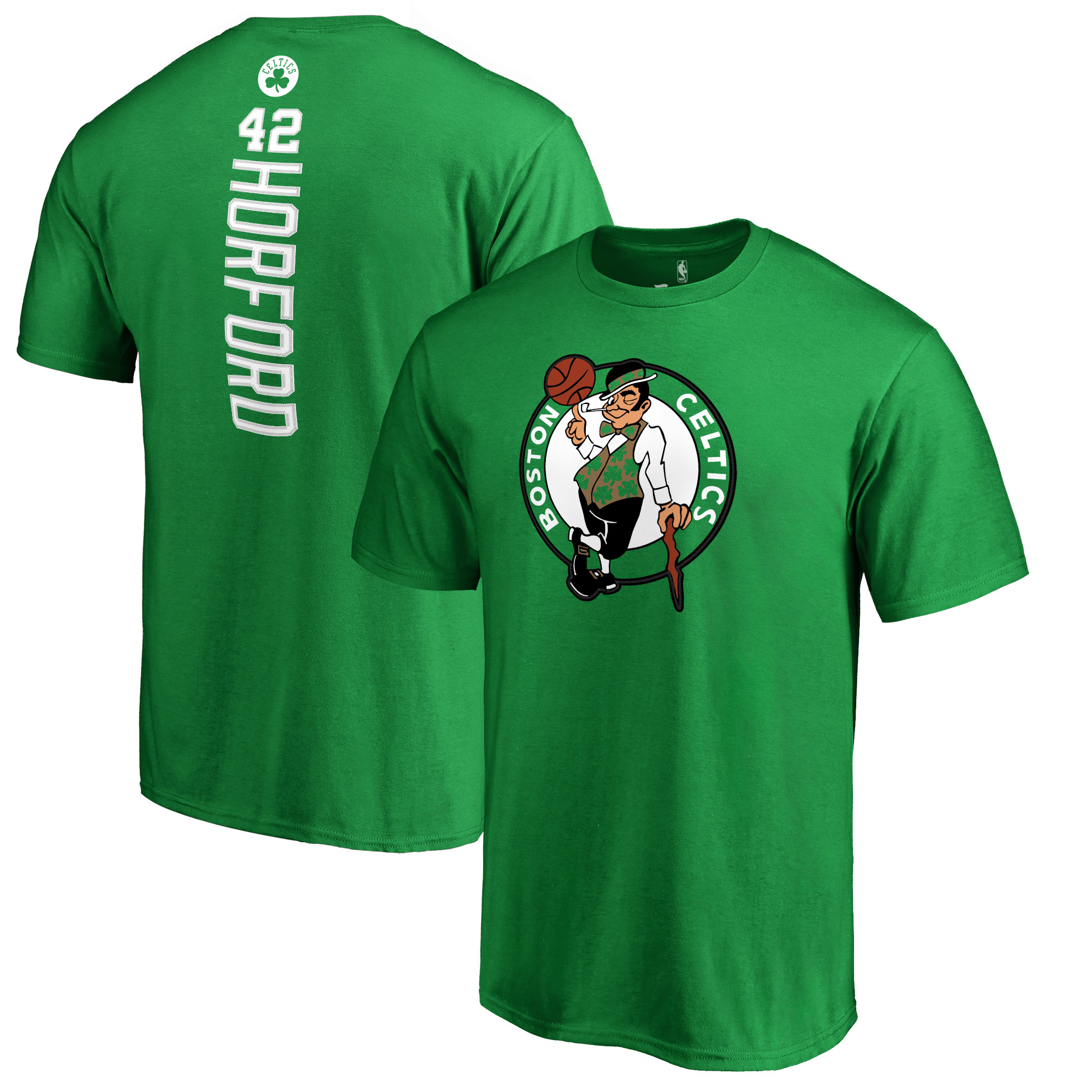 Al Horford Boston Celtics Backer Name & Number T-Shirt - Kelly Green