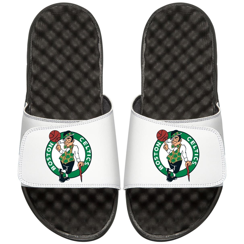 Boston Celtics Youth Primary iSlide Sandals - White