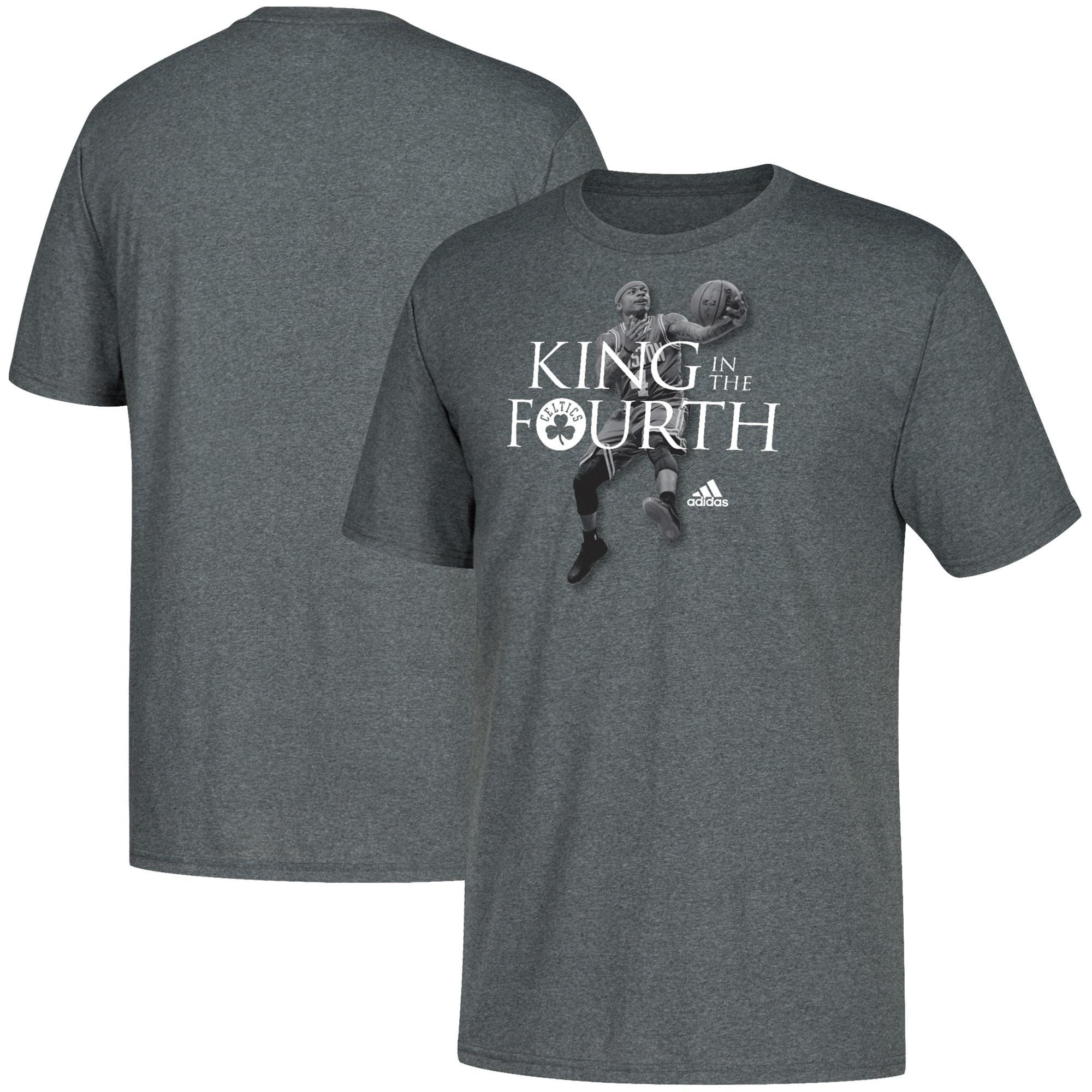 Isaiah Thomas Boston Celtics adidas King in the Fourth T-Shirt - Charcoal