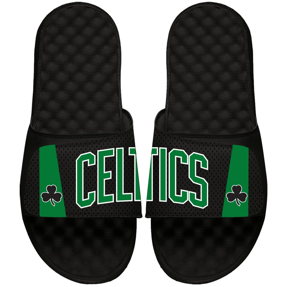Boston Celtics ISlide Youth Statement Jersey Slide Sandals - Black