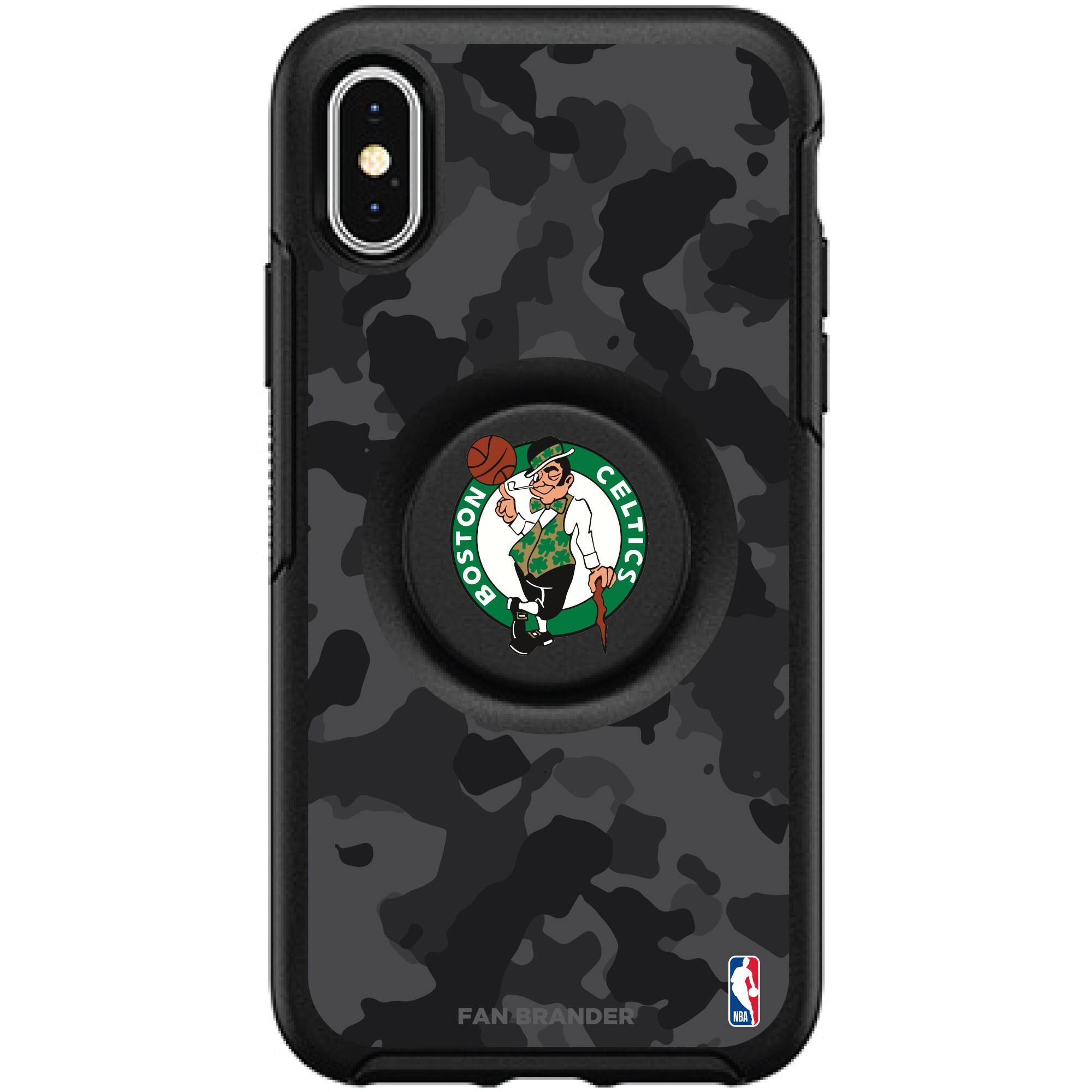 Boston Celtics OtterBox Otter + PopSocket Symmetry Urban Camo iPhone Case