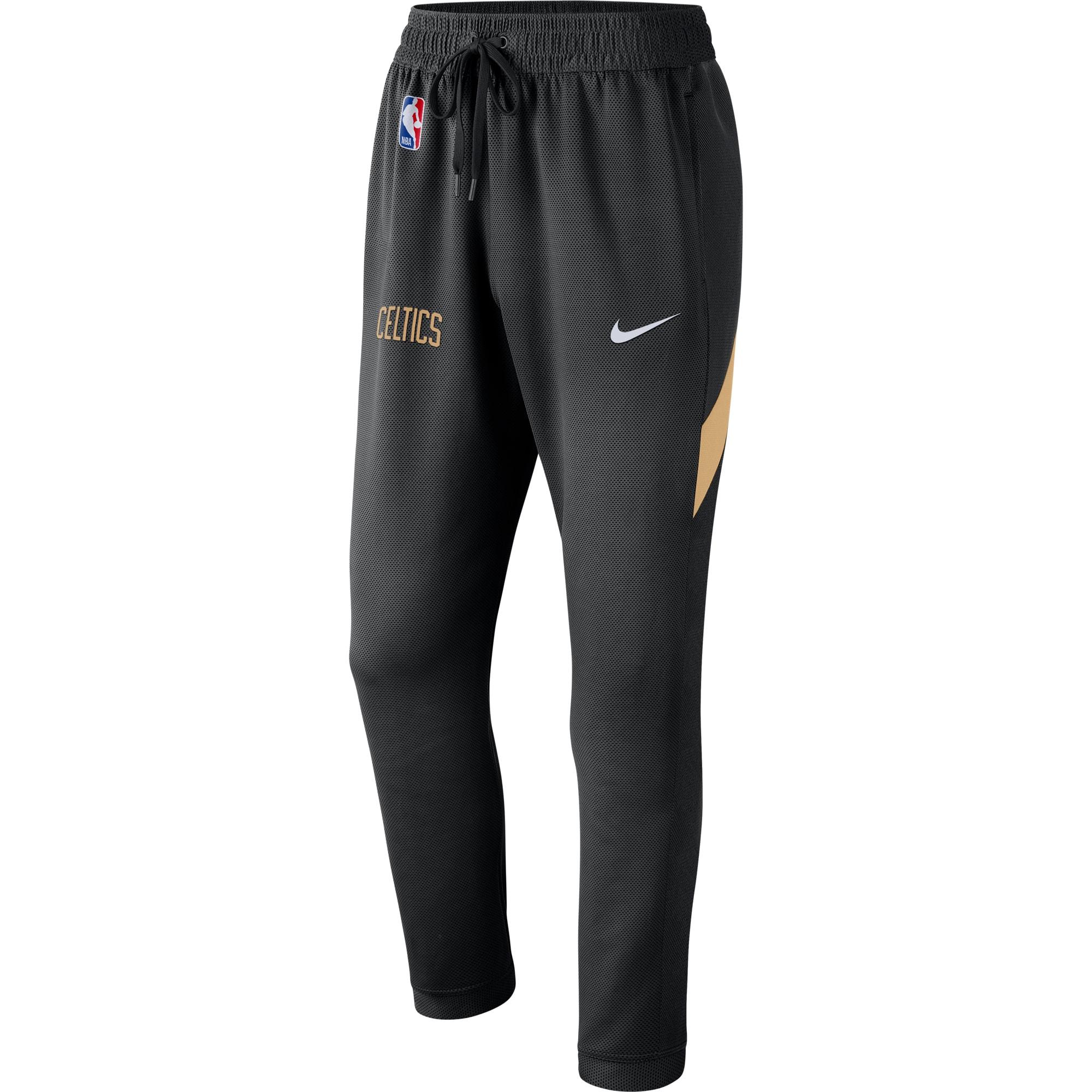Boston Celtics Nike 2019/20 Earned Edition Showtime Performance Pants - Black/Gold
