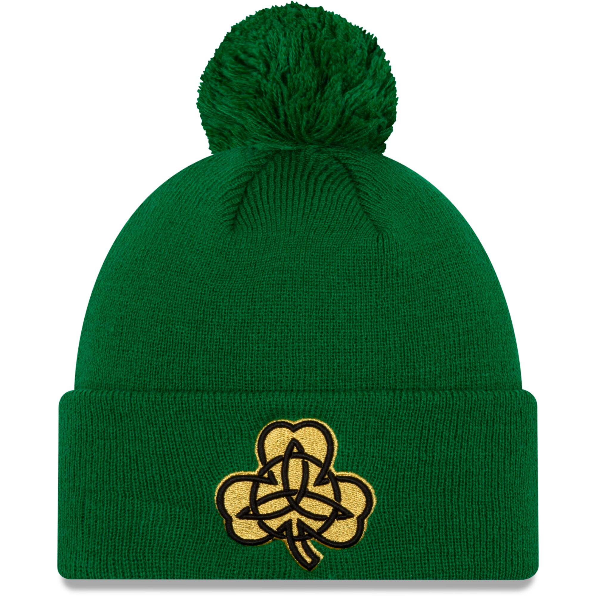 Boston Celtics New Era 2019/20 City Edition Pom Knit Hat - Green