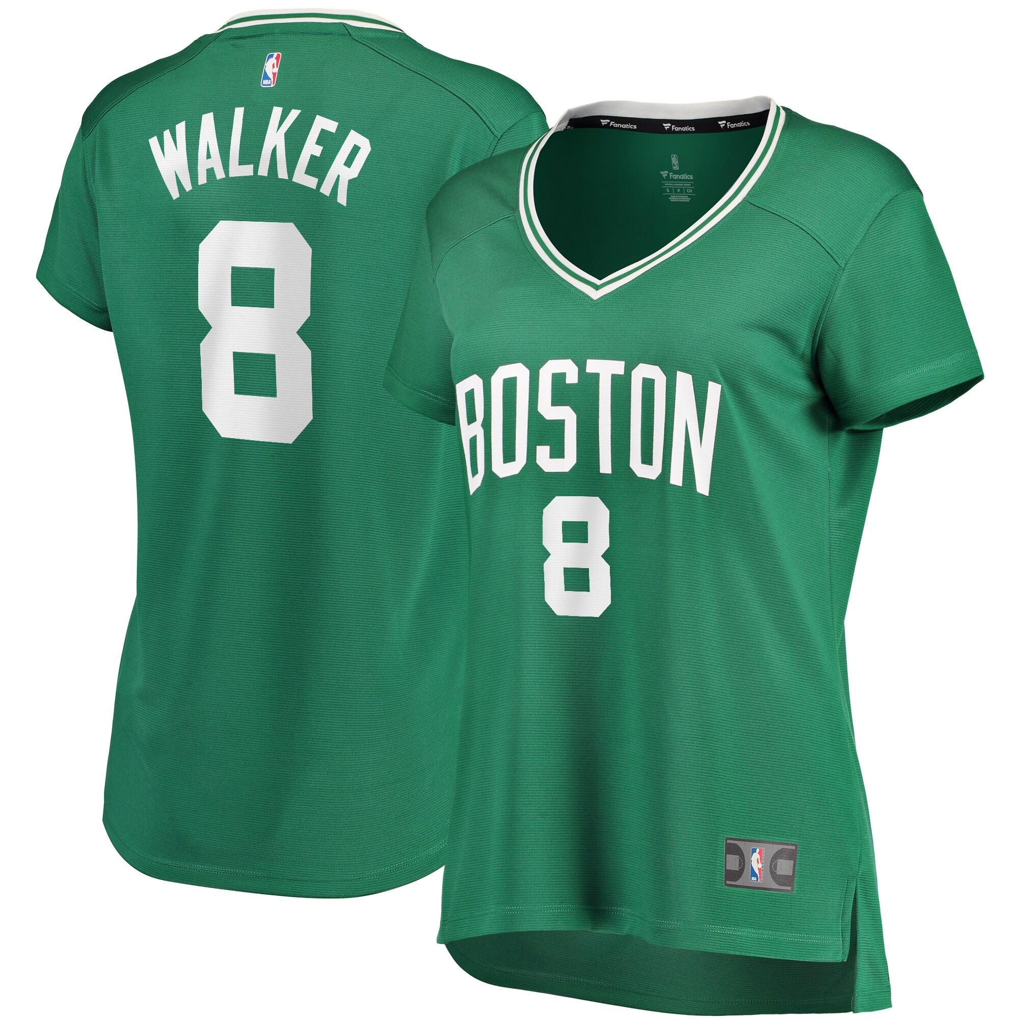 Kemba Walker Boston Celtics Fanatics Branded Women's Fast Break Replica Player Jersey Green - Icon Edition