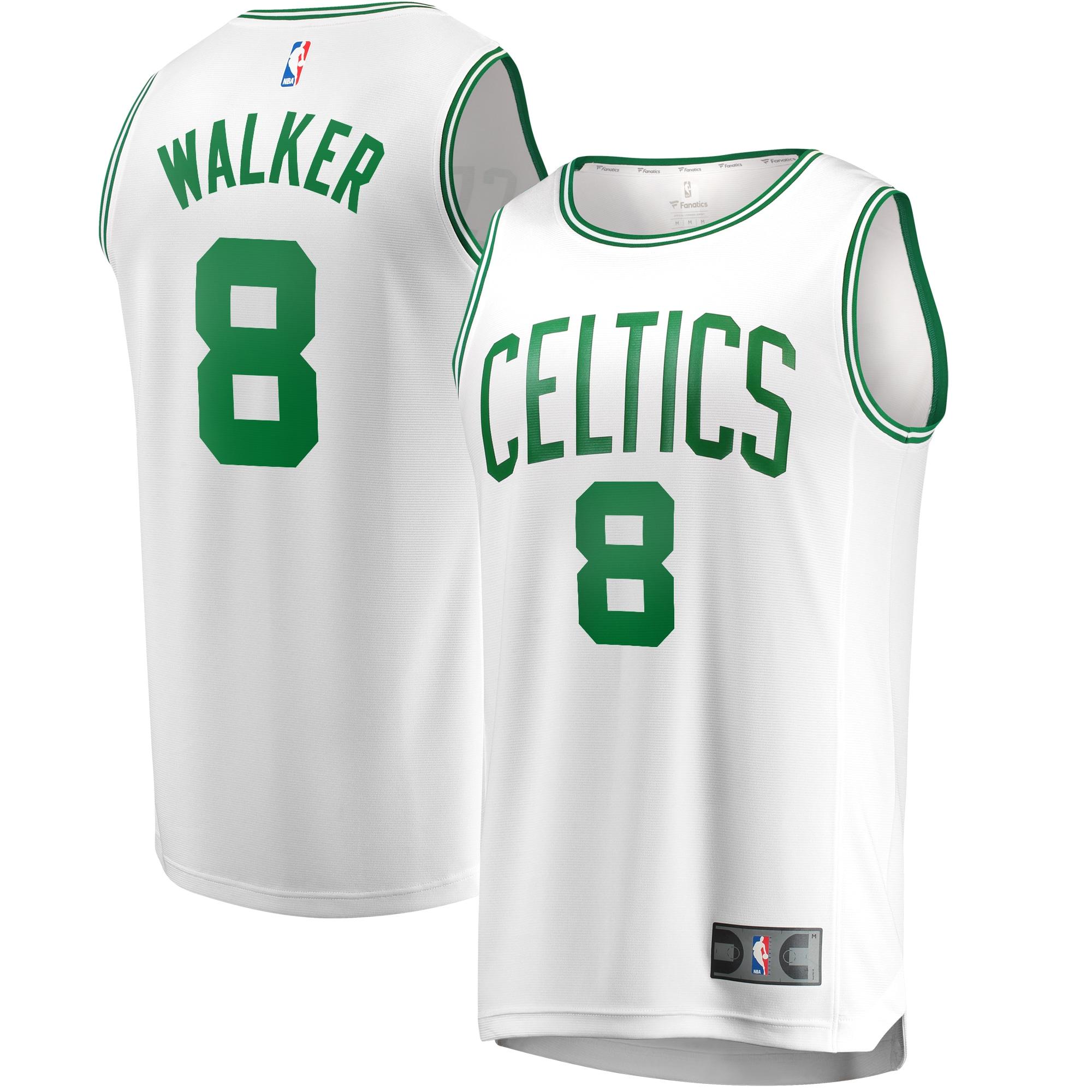 Kemba Walker Boston Celtics Fanatics Branded Fast Break Replica Jersey White - Association Edition