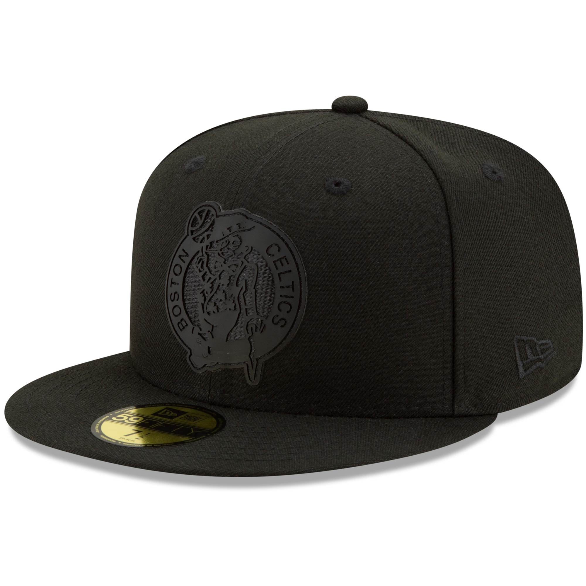 Boston Celtics New Era Back Half 59FIFTY Fitted Hat - Black