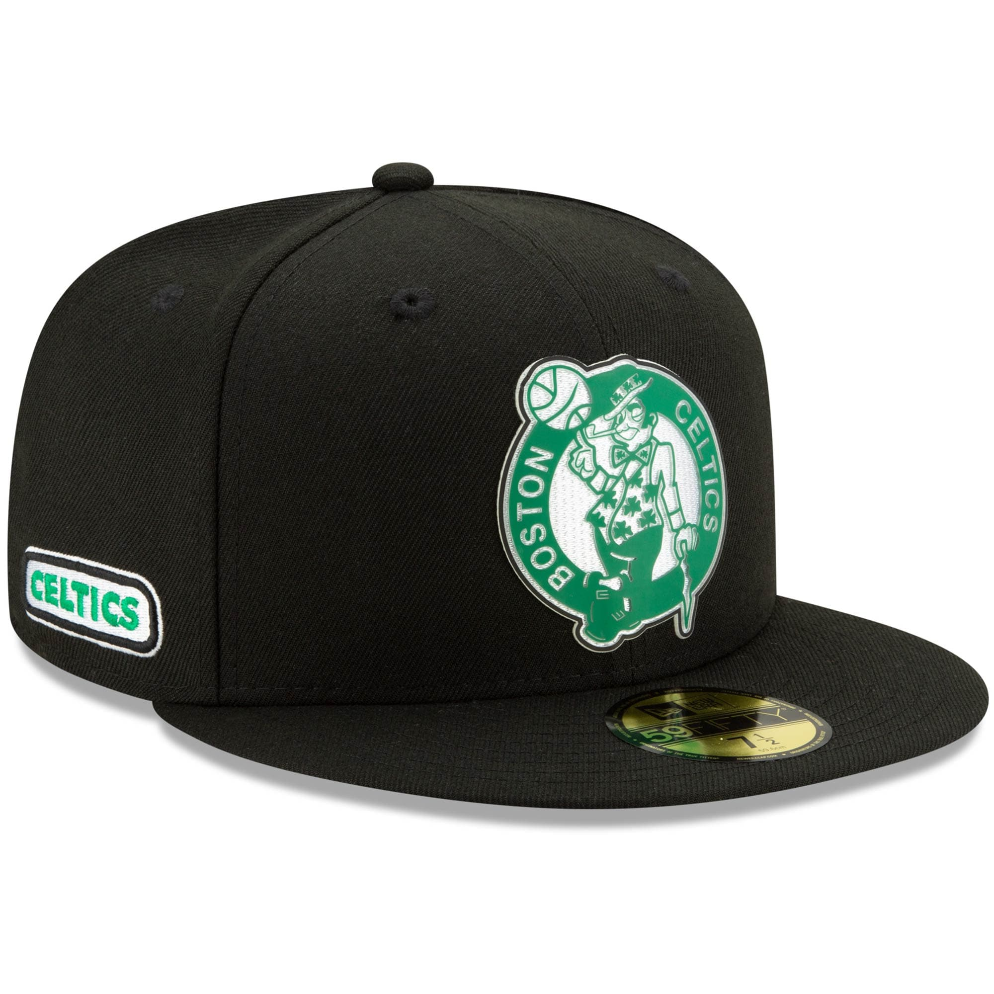 Boston Celtics New Era Official Back Half 59FIFTY Fitted Hat - Black