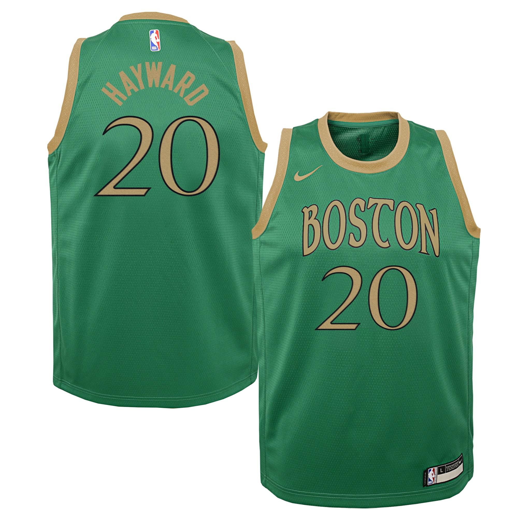 Gordon Hayward Boston Celtics Nike Youth Swingman Jersey Green - City Edition