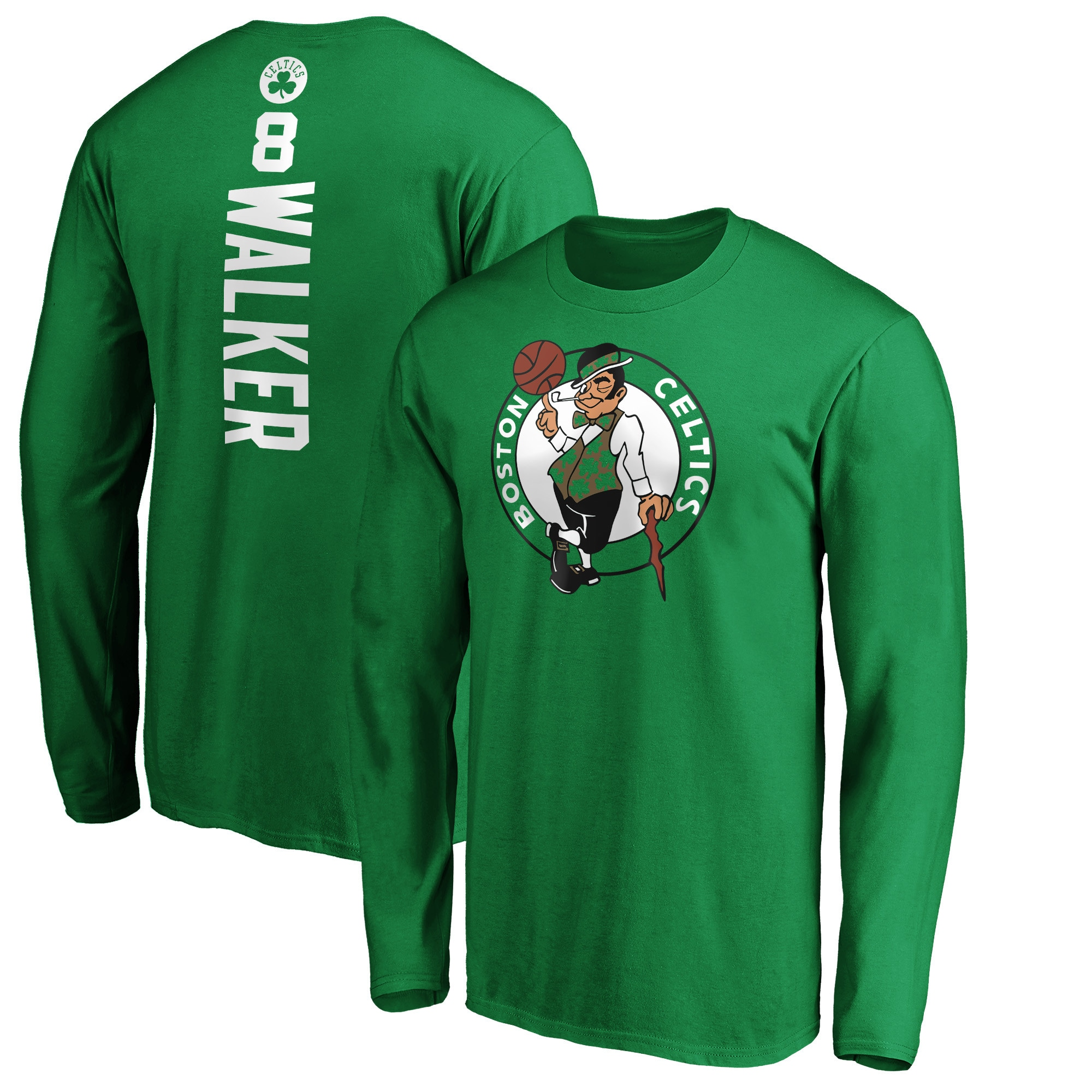 Kemba Walker Boston Celtics Fanatics Branded Team Playmaker Name & Number Long Sleeve T-Shirt - Kelly Green