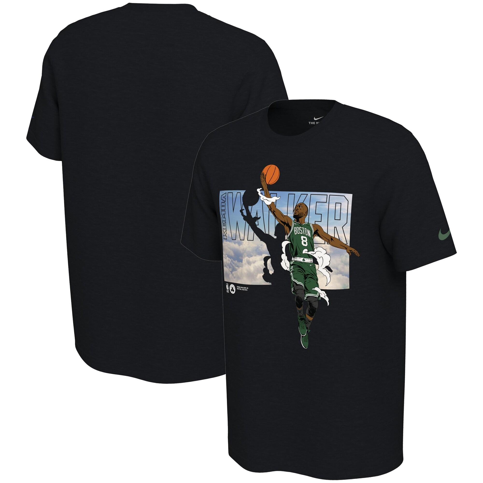 Kemba Walker Boston Celtics Nike Elevation T-Shirt - Black