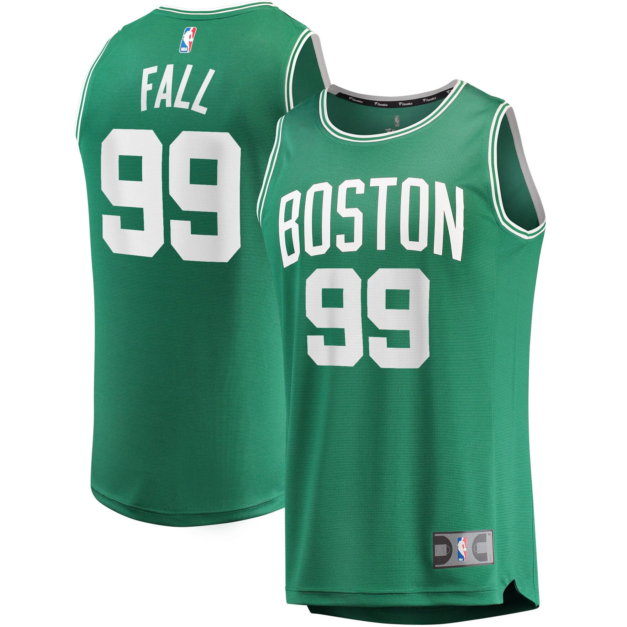 Tacko Fall Boston Celtics Fanatics Branded 2019/20 Fast Break Replica Jersey Green - Icon Edition