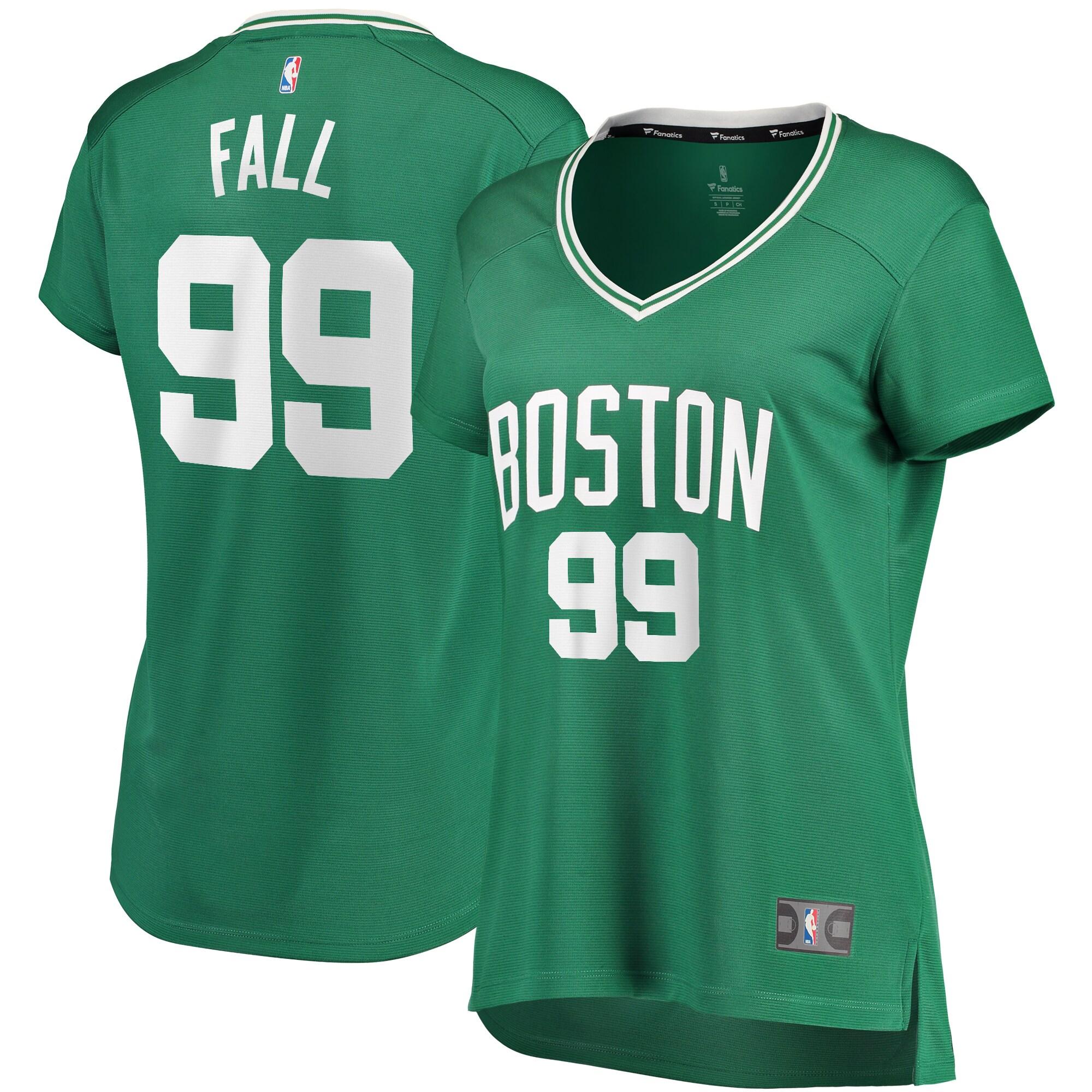 Tacko Fall Boston Celtics Fanatics Branded Women's 2019/20 Fast Break Replica Jersey Green - Icon Edition