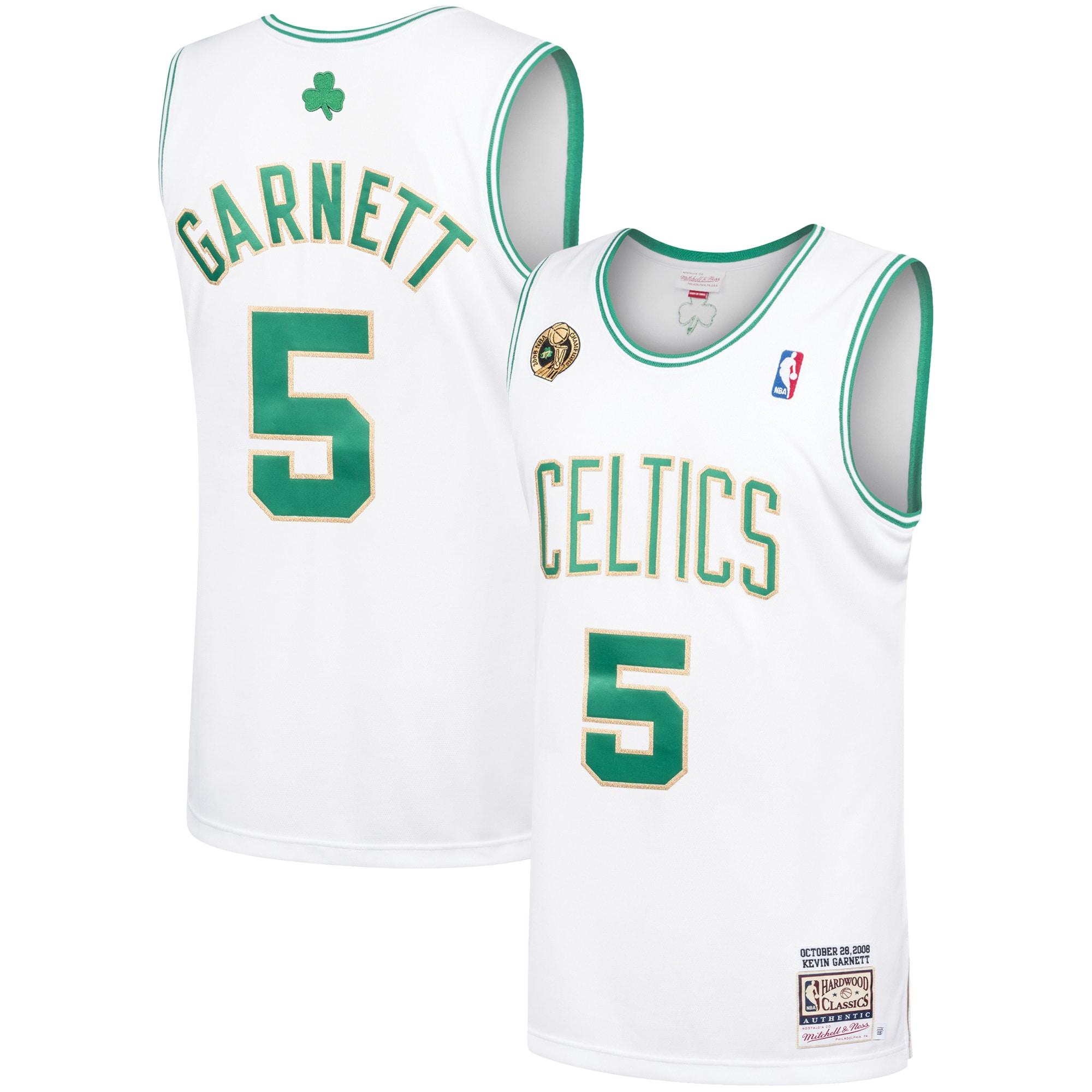Kevin Garnett Boston Celtics Mitchell & Ness 2008-09 Hardwood Classics Authentic Jersey - White