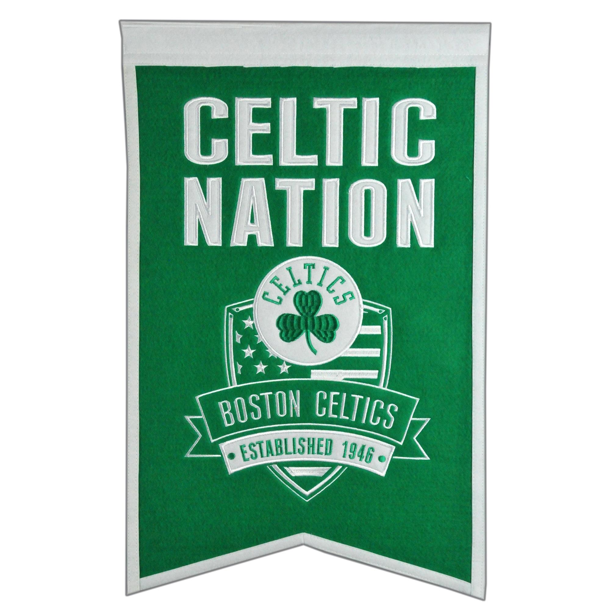 "Boston Celtics 14"" x 22"" Nations Banner"