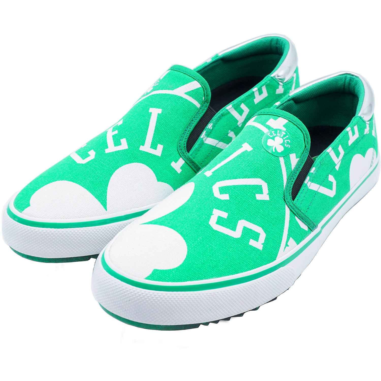 Boston Celtics Slip-On Canvas Shoes - Kelly Green