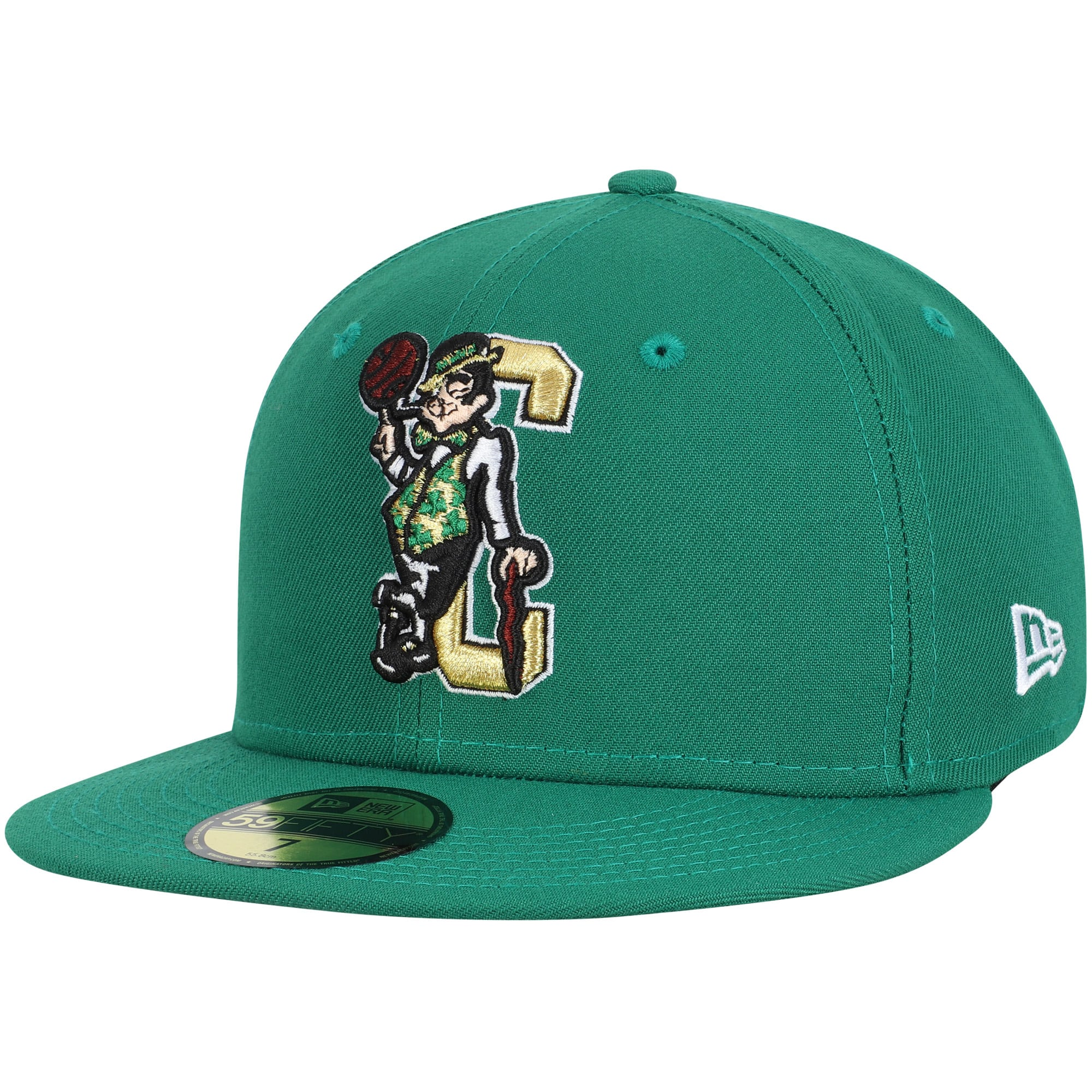 Boston Celtics New Era Team Logo Back Half Series 59FIFTY Fitted Hat - Kelly Green