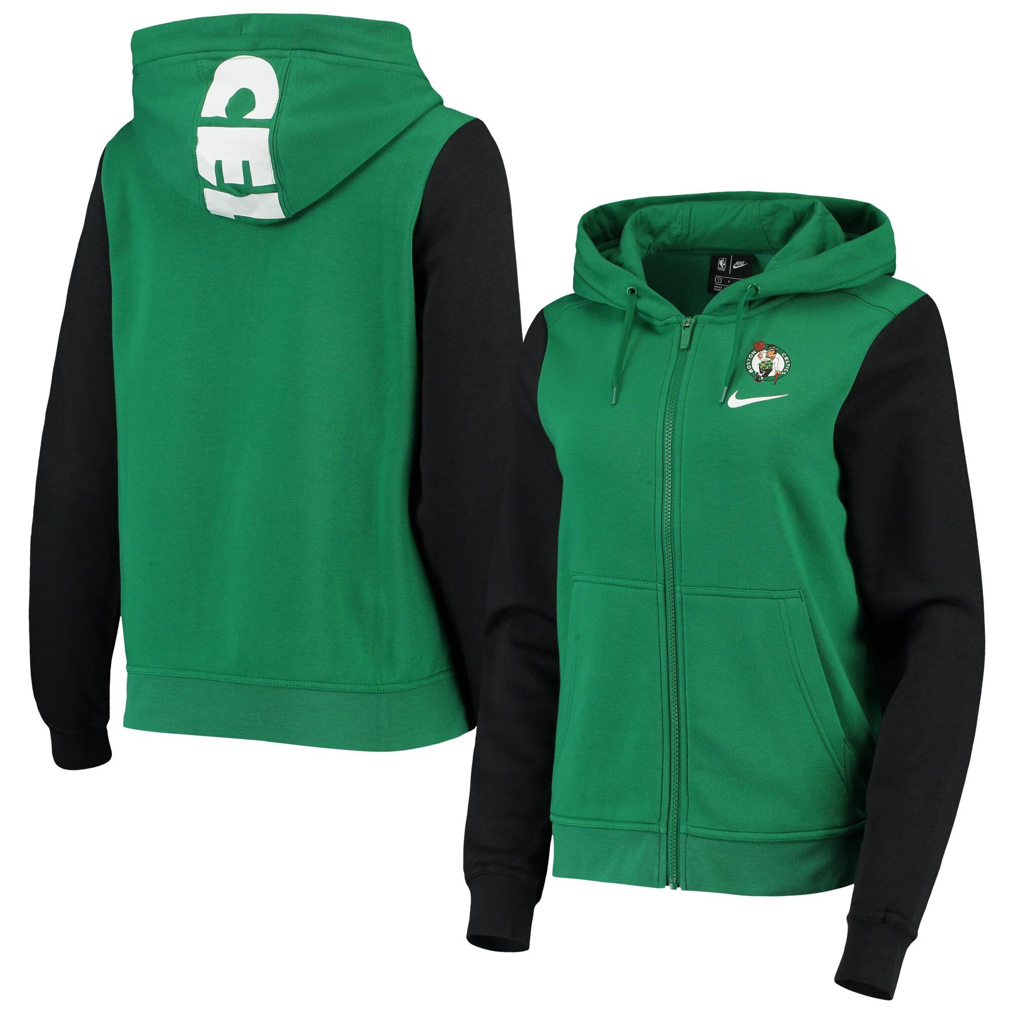 Boston Celtics Nike Women's Club Fleece Full-Zip Hoodie - Kelly Green