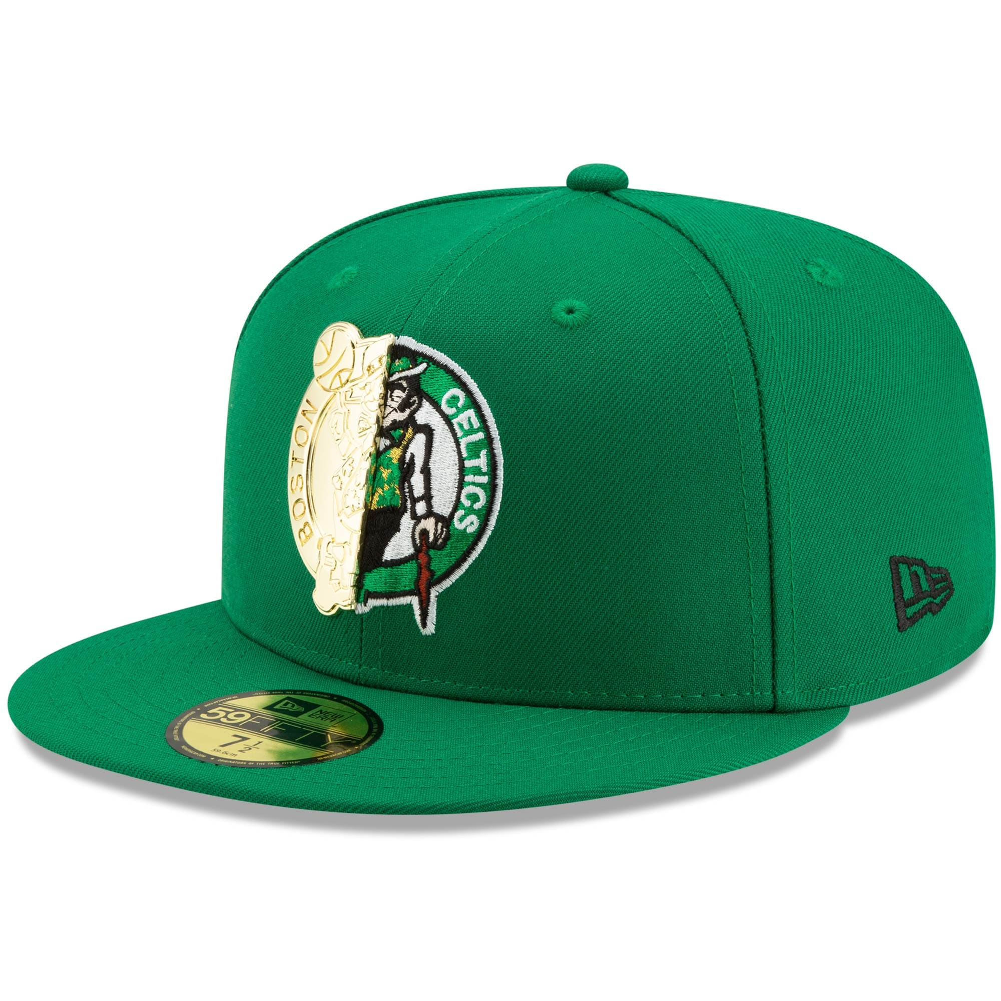 Boston Celtics New Era Split Metal & Thread 59FIFTY Fitted Hat - Kelly Green