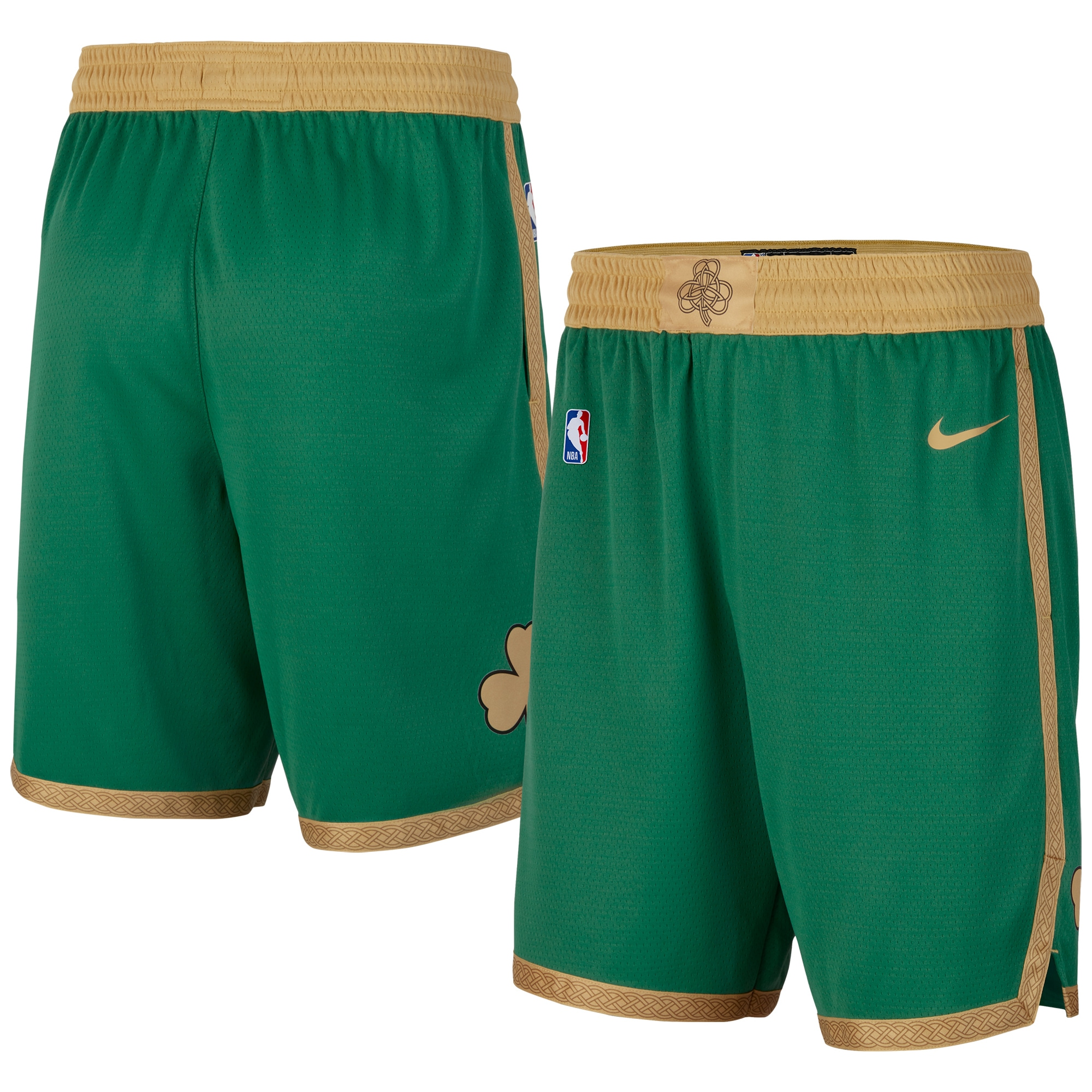 Boston Celtics Nike 2019/20 City Edition Swingman Shorts - Green